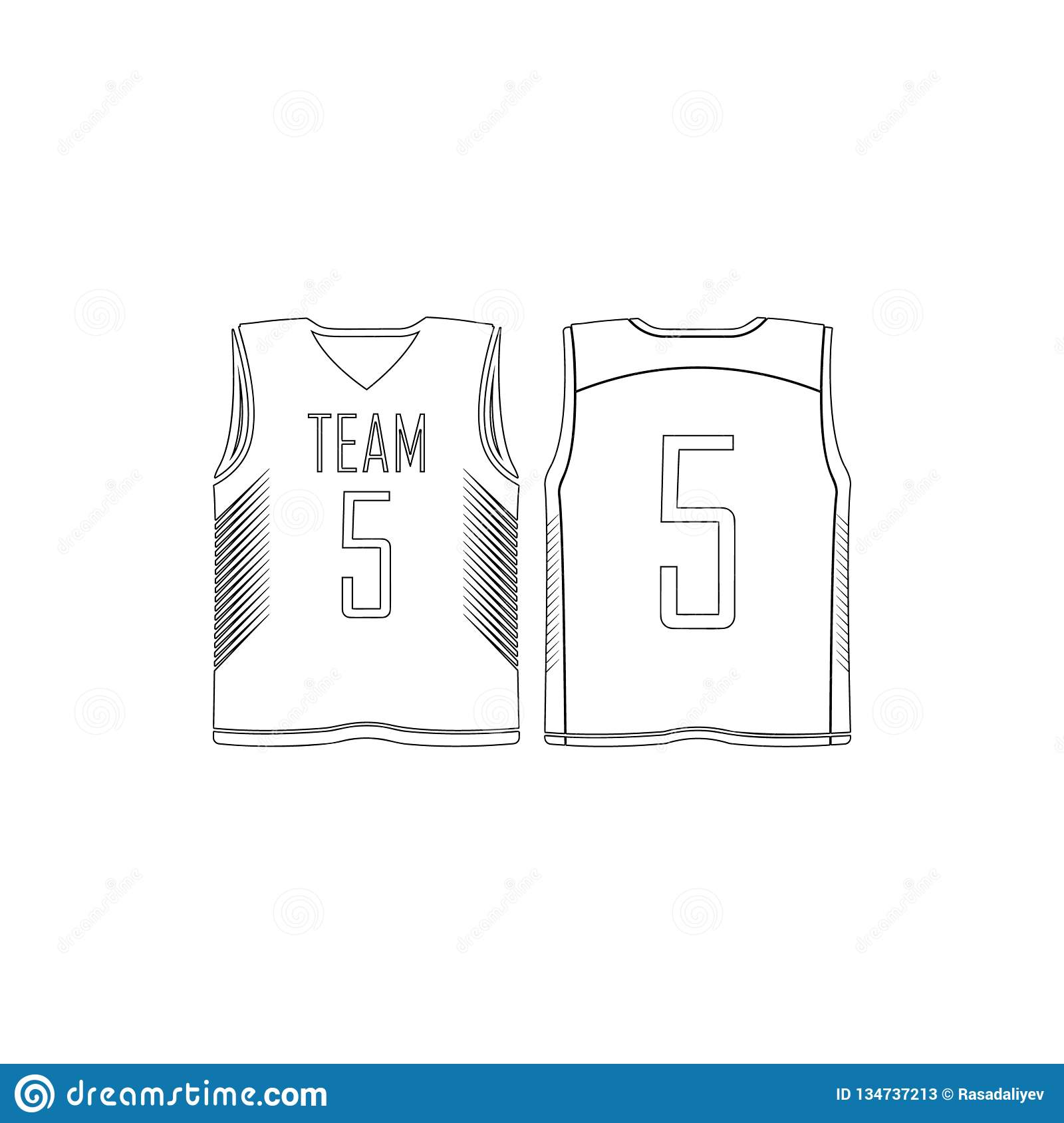 Basketball Jersey Icon Element Of T Shirt For Mobile Concept And Web Apps Icon Thin Line Icon For Website Design And Development Stock Illustration Illustration Of Icon Jersey 134737213