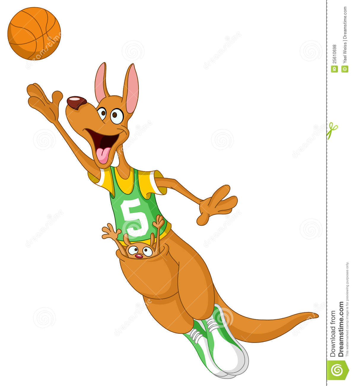 Basketball Kangaroos Cartoon
