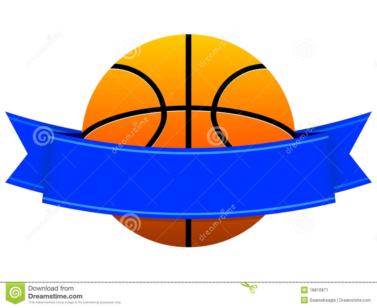 An illustration of a full color basketball logo / emblem left blank ...