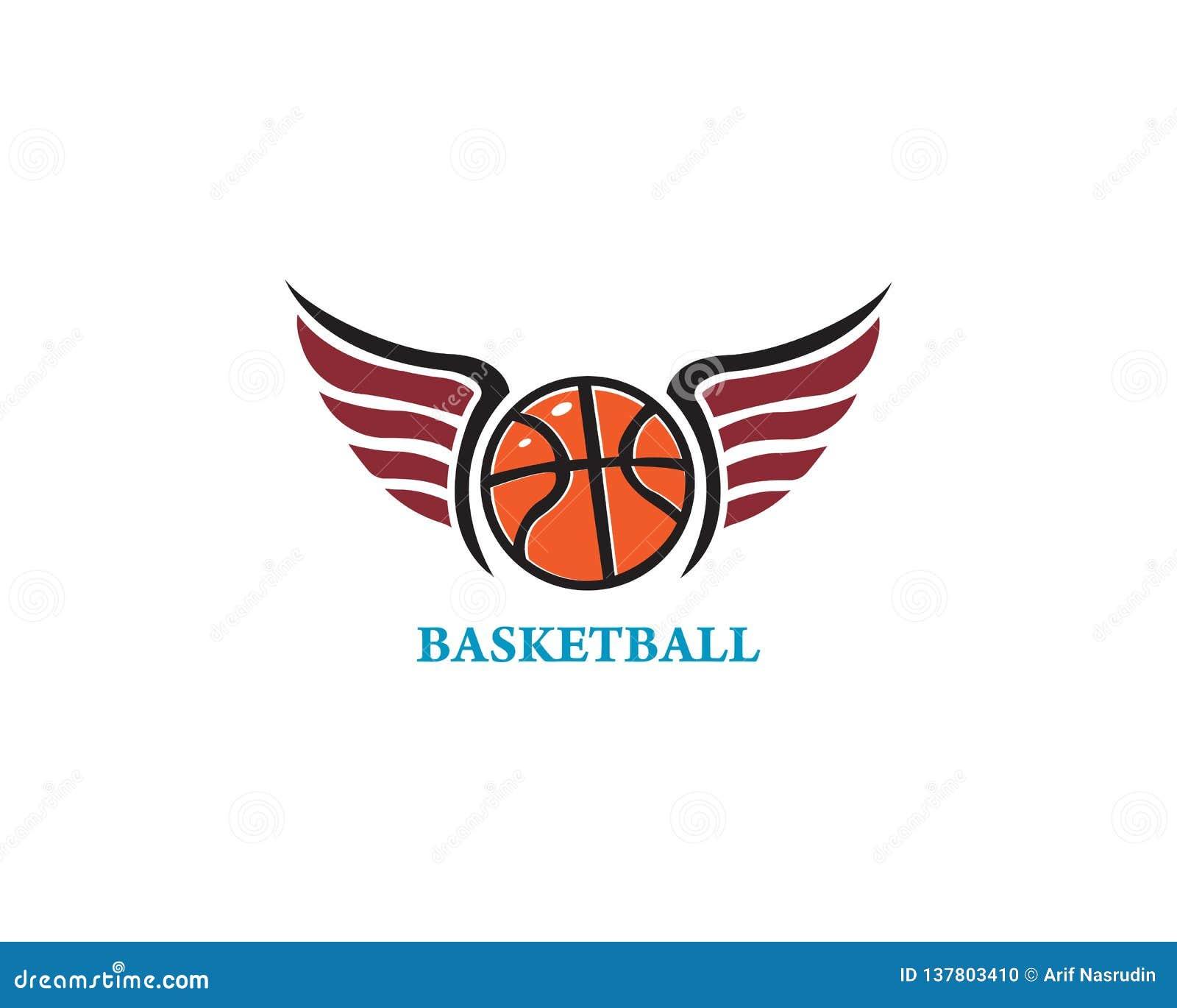 basketball logo template icon design