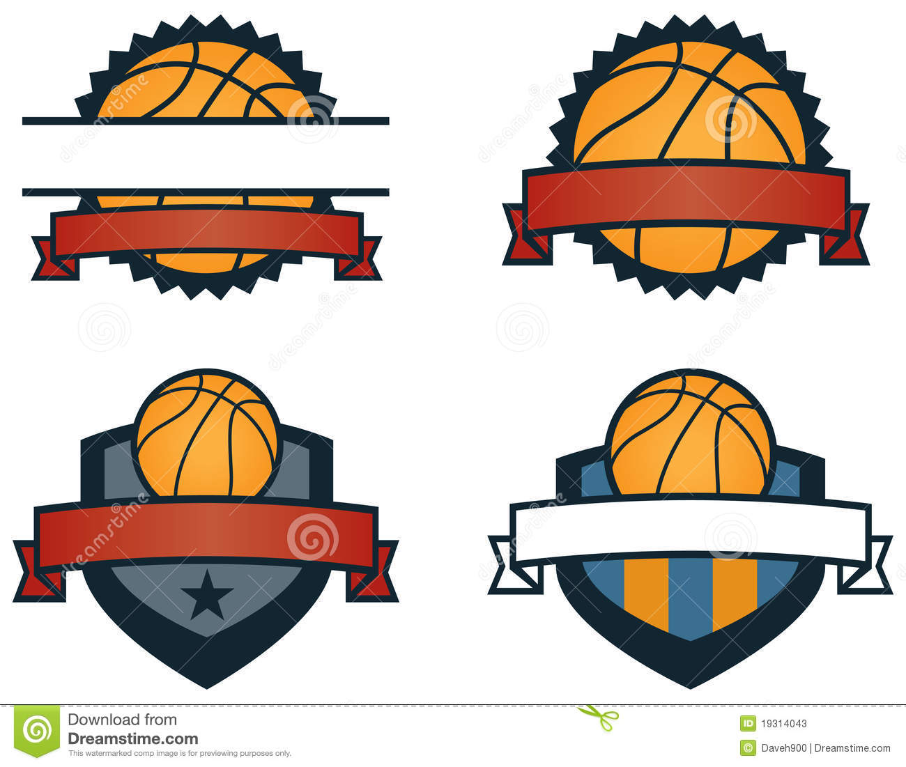 Basketball Logos Stock Vector Image Of Tournament Crest