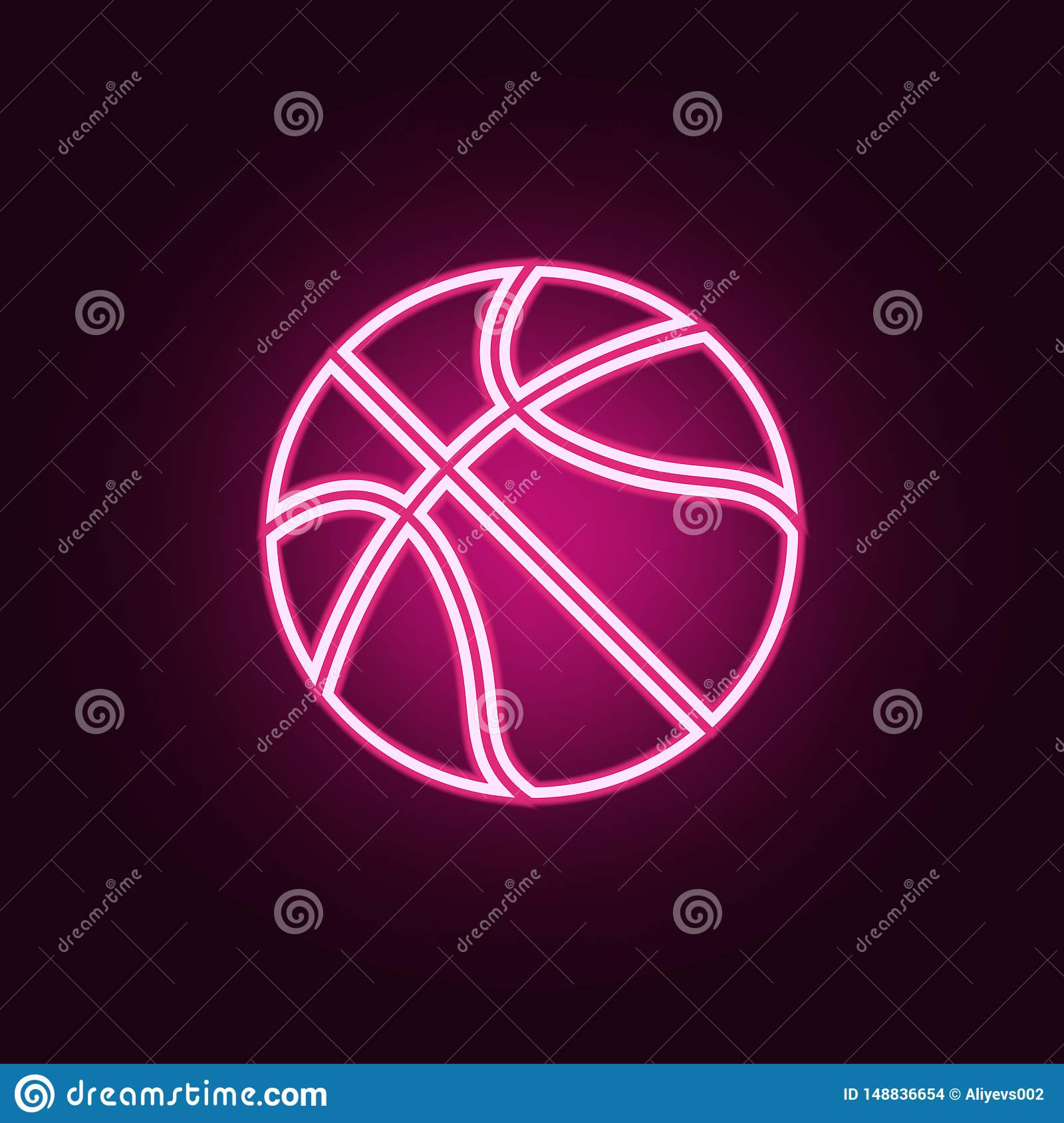 basketball neon icon. Elements of web set. Simple icon for websites, web design, mobile app, info graphics