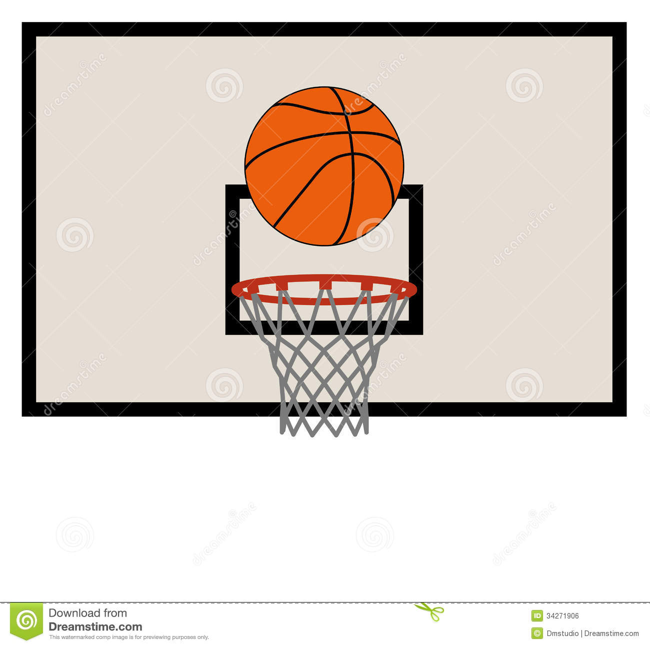 Vector Basketball Net And Backboard Royalty Free Stock Image - Image ...