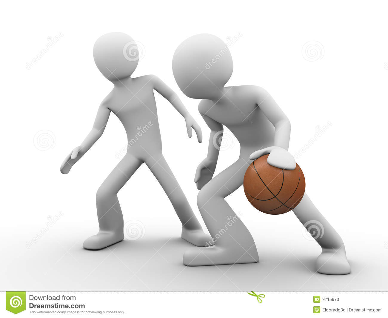 Basketball Outplay (deffence Vs. Offence) Stock Photos ...