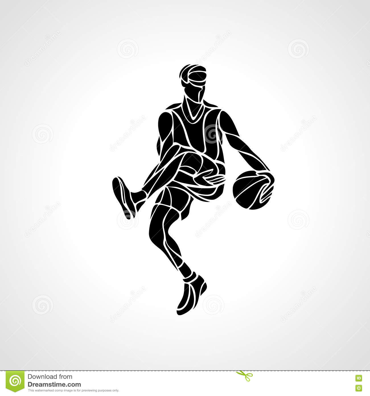 Basketball Player Abstract Silhouette Stock Vector - Image ...