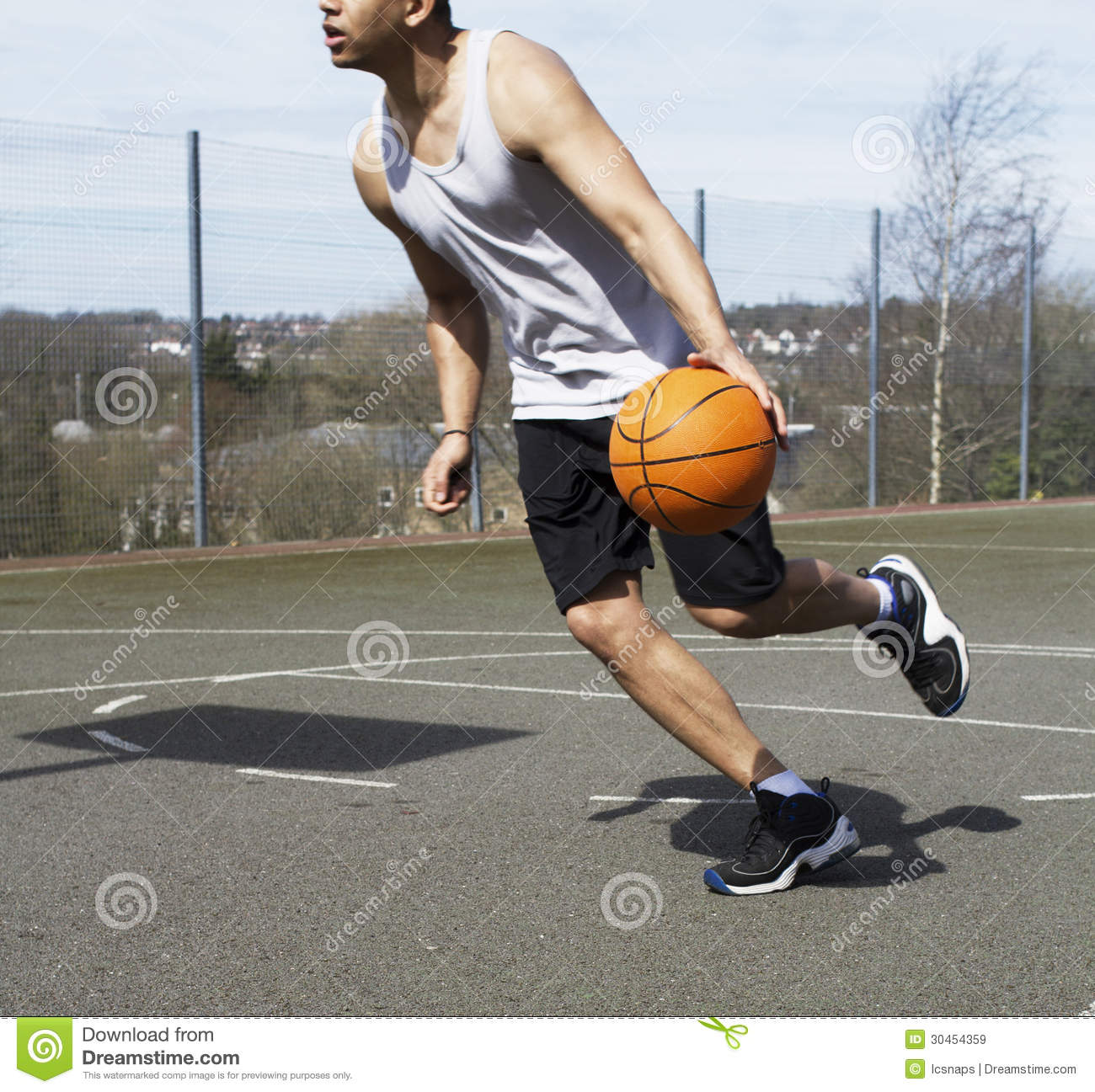 Basketball Player In Action Royalty Free Stock Images - Image ...