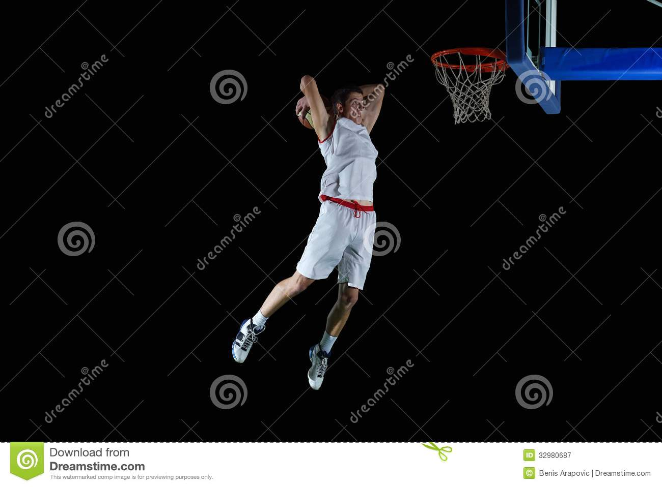 Basketball Player In Action Royalty Free Stock Photography - Image ...