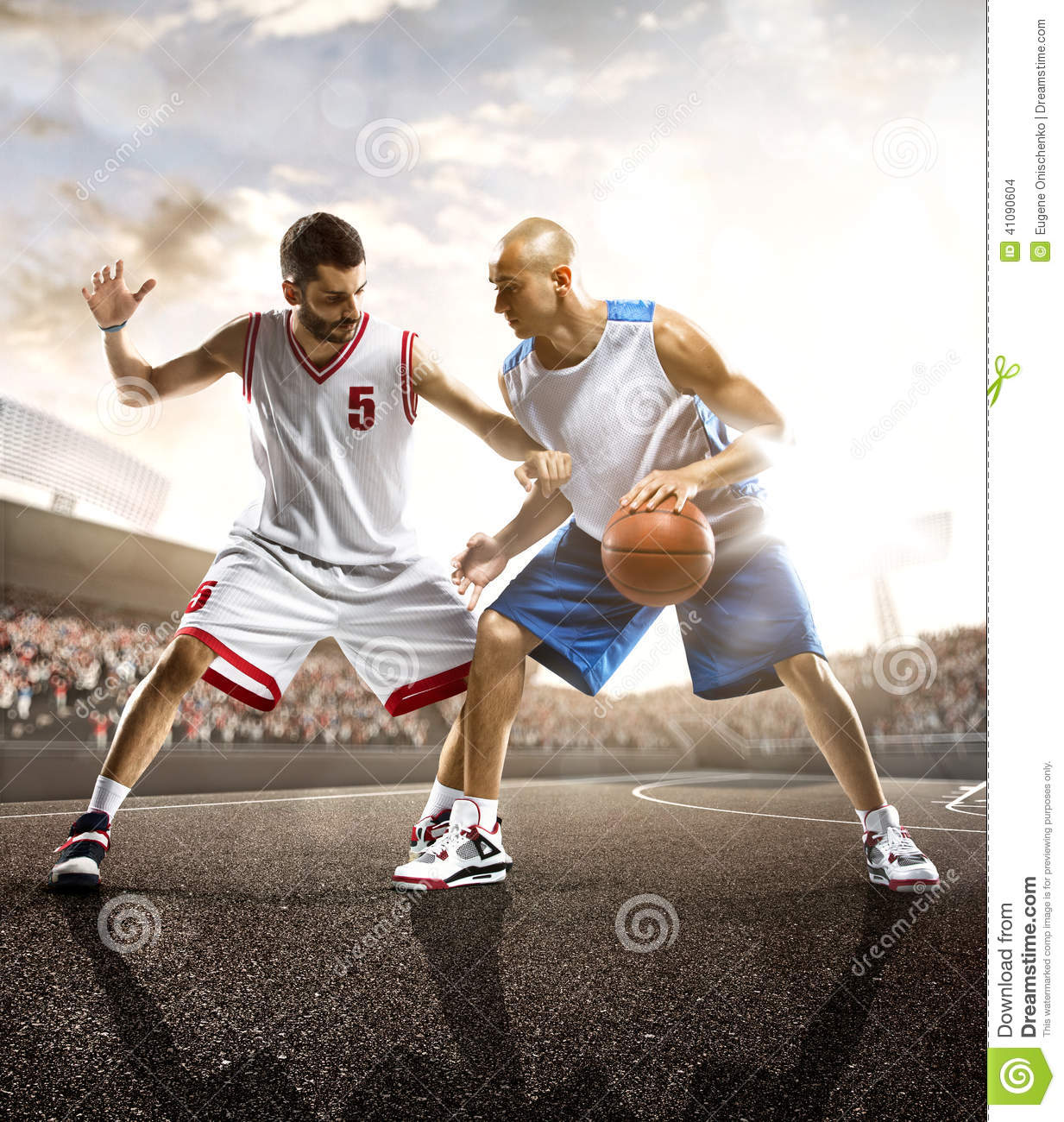 Basketball Player In Action Stock Photo - Image: 41090604