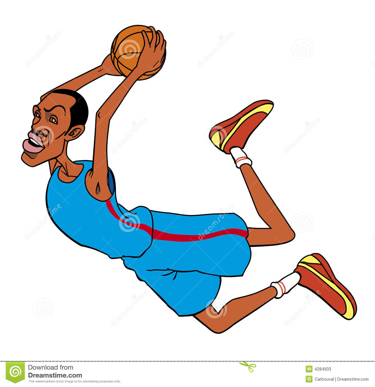 Basketball Player Cartoon Stock Photos - Image: 4284933