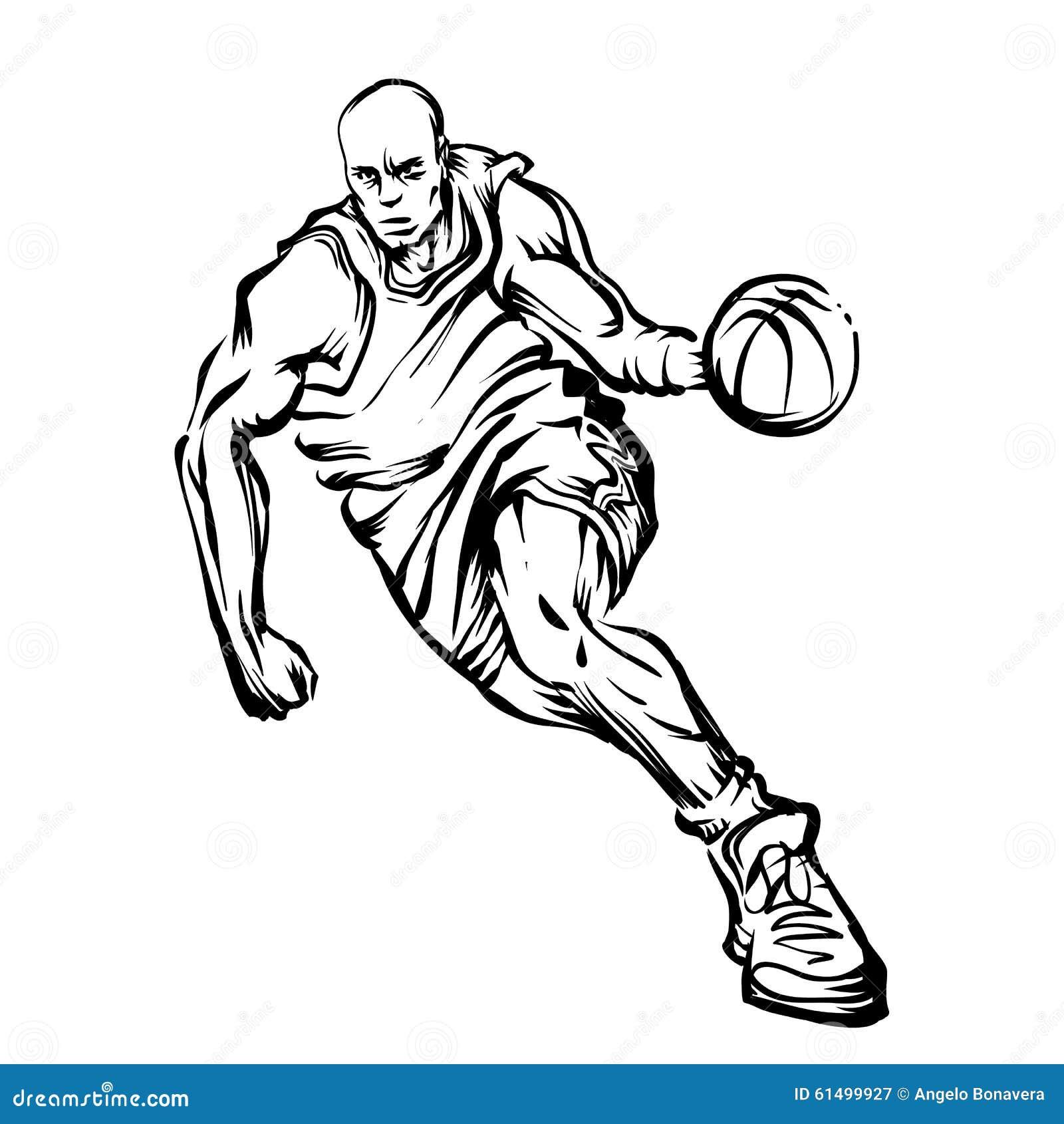 Basketball player stock illustration. Illustration of shoe