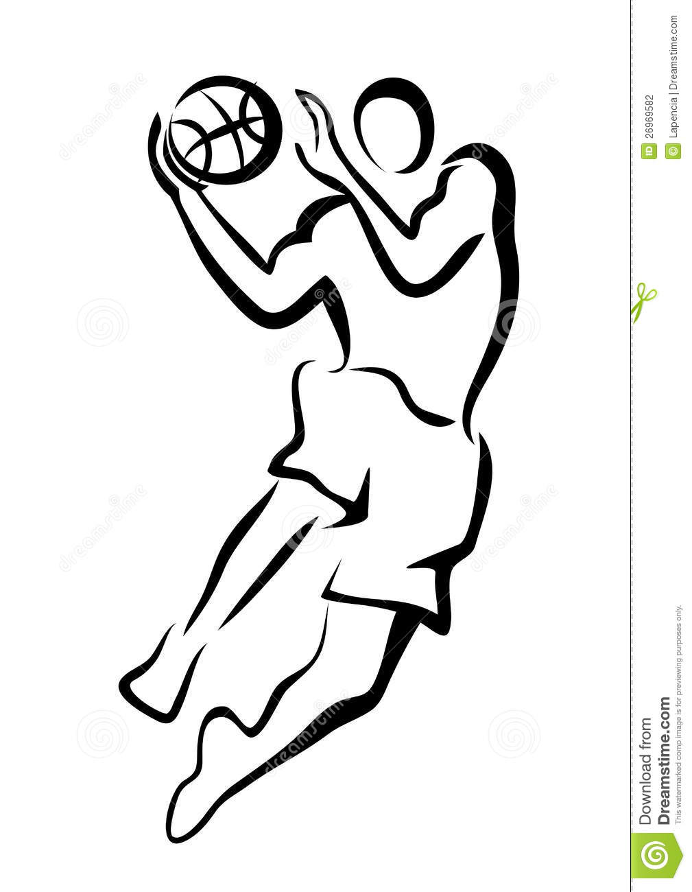 Basketball Player In Jump Stock Photography Image 26969582