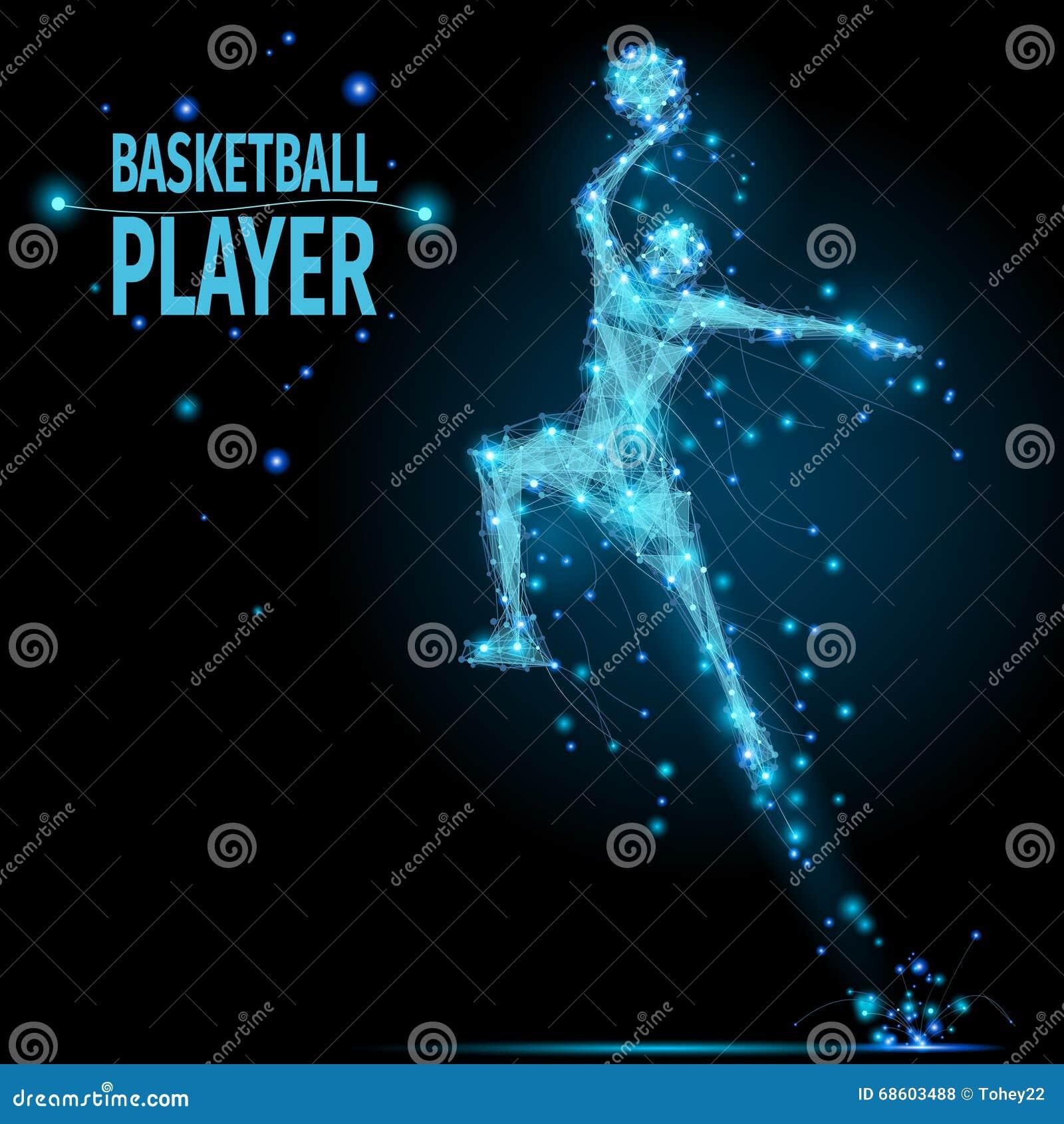 Basketball Player Polygonal Stock Vector - Illustration of