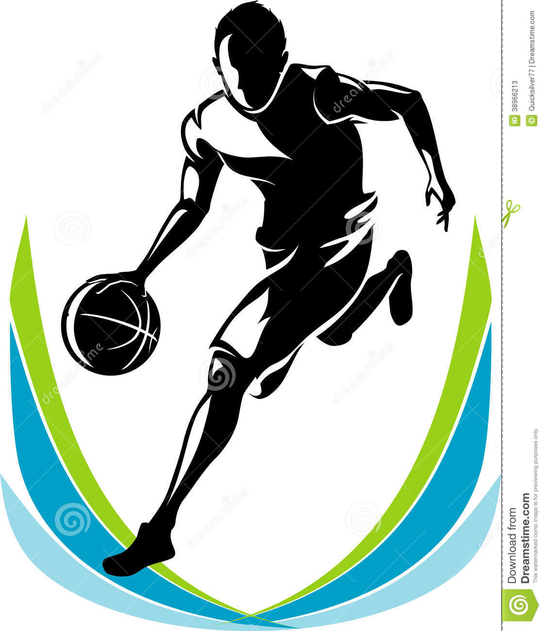 Basketball Player Silhouette Stock Illustration ...