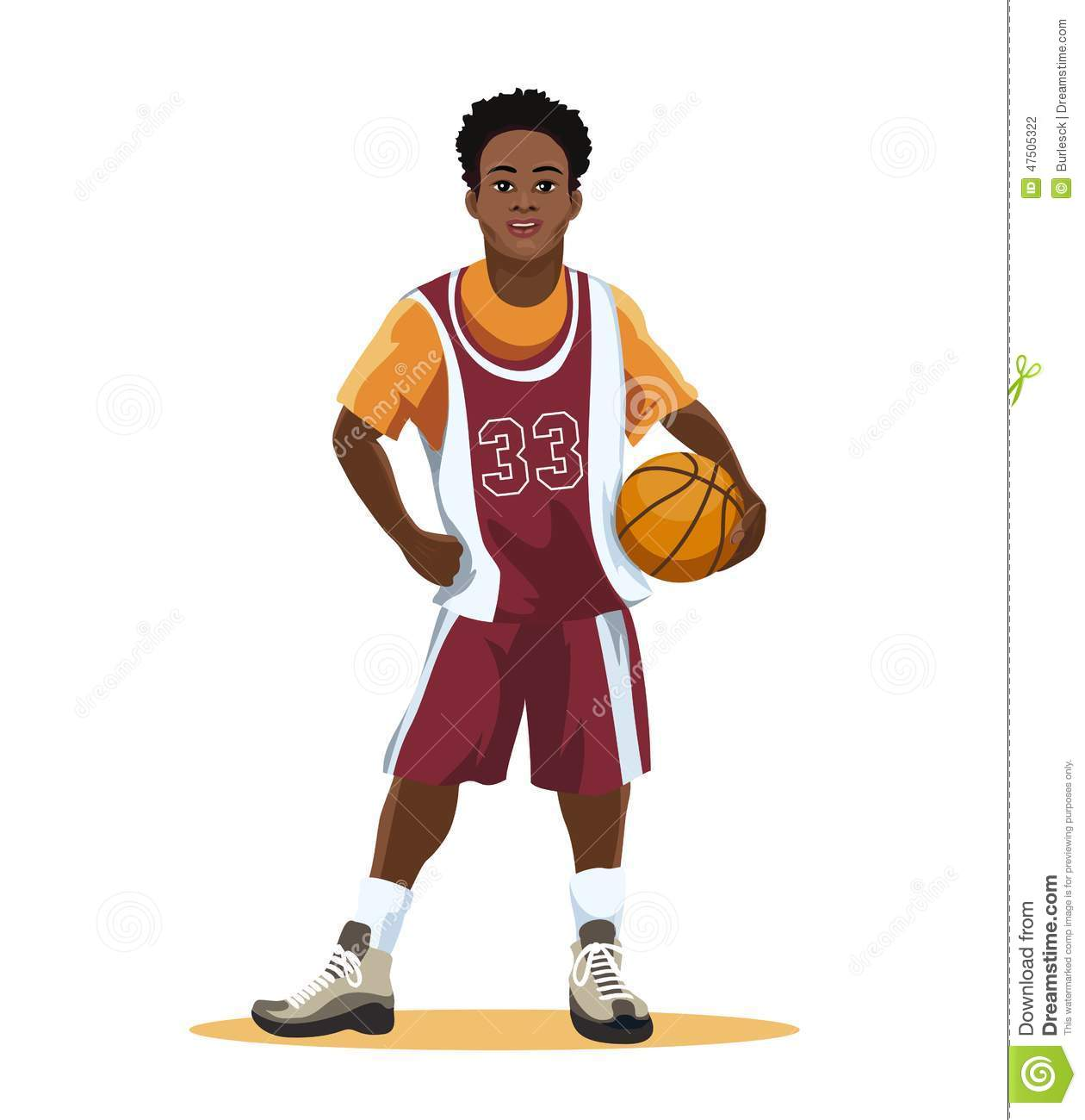 Basketball player in uniform stock vector image 47505322
