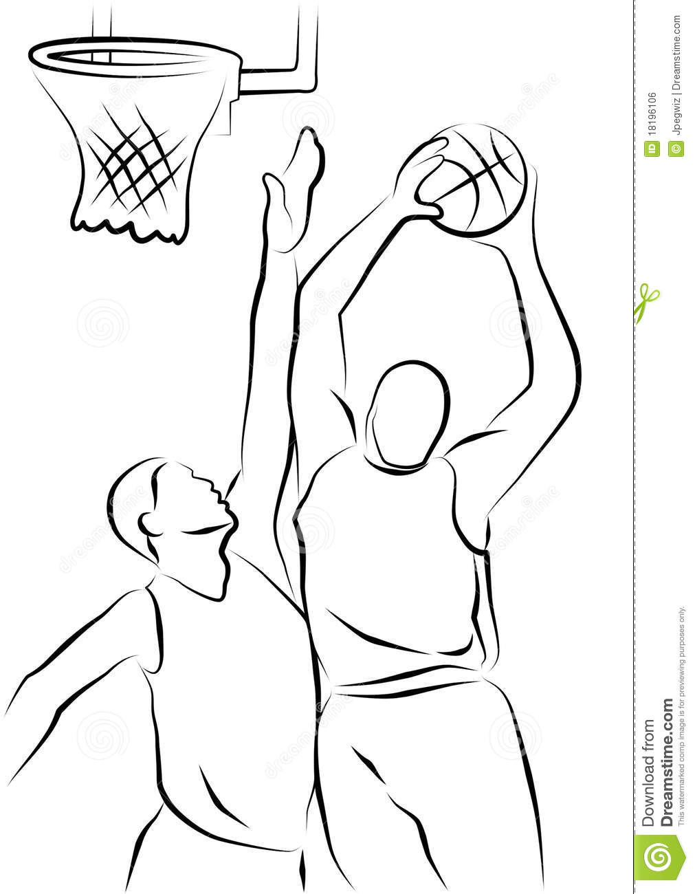 Basketball Players Stock Illustration Image Of Symbol