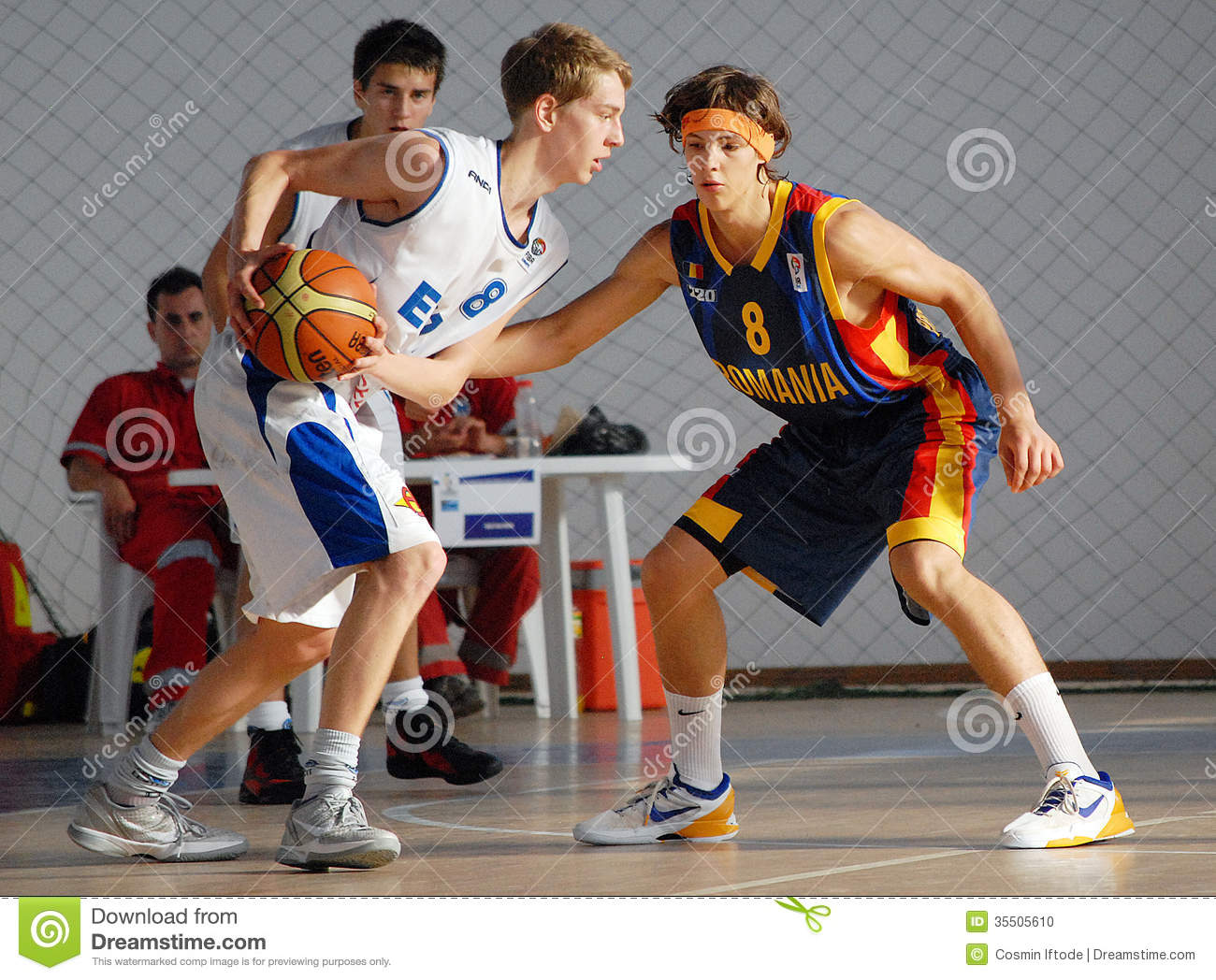 Basketball Players In Action Editorial Image - Image: 35505610