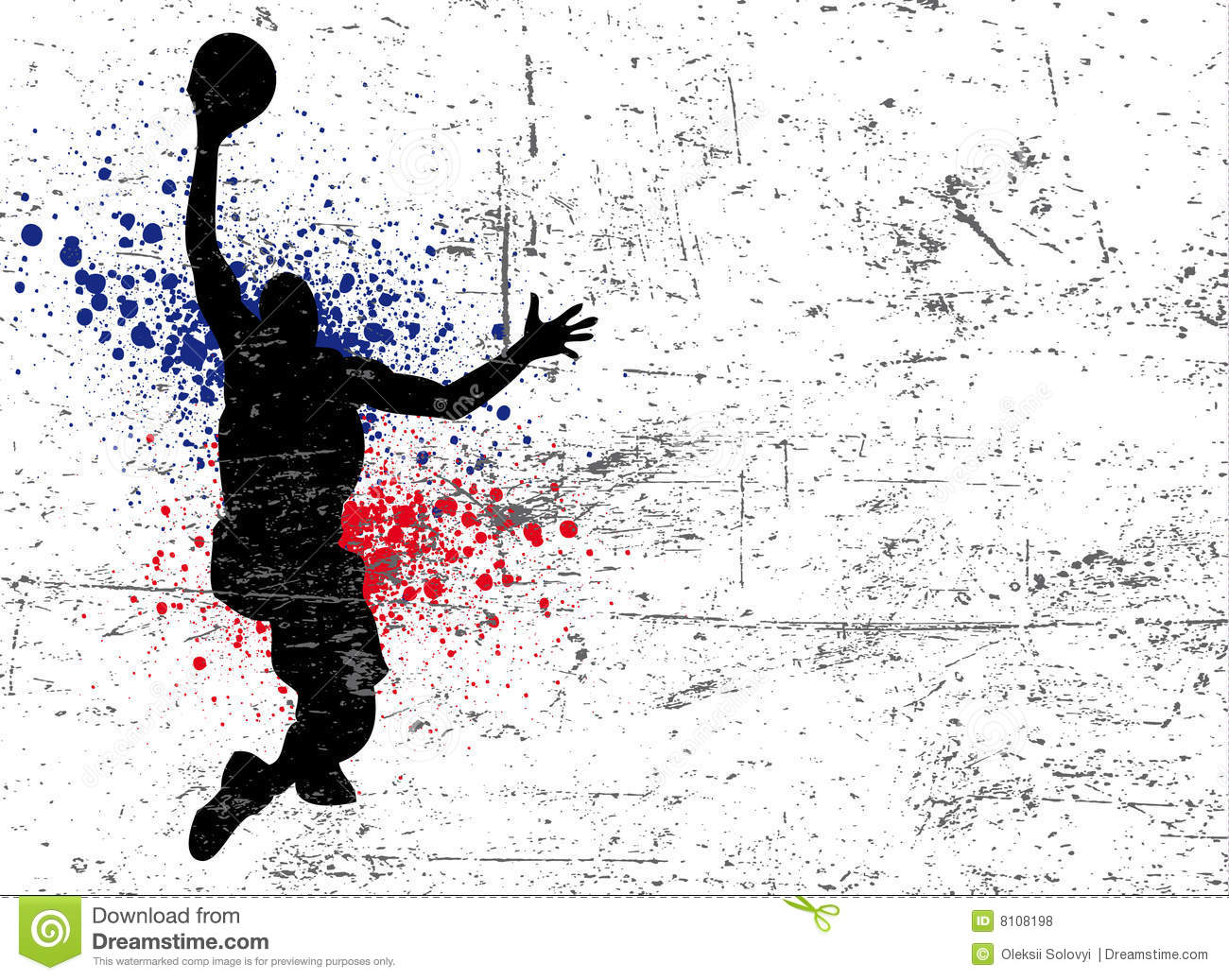 Vector illustration of a basketball poster that can be scaled to any ...
