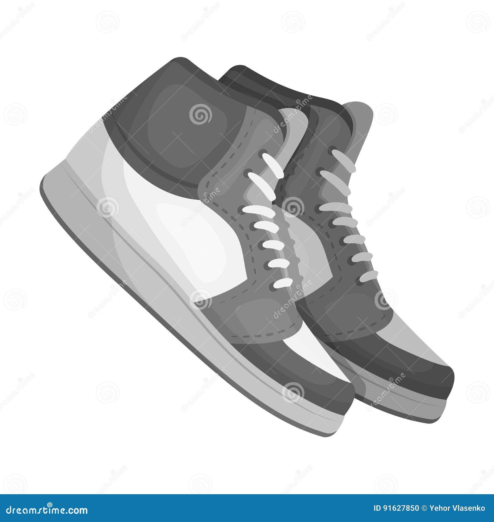 44e24c17 Basketball shoes.Basketball single icon in monochrome style vector symbol  stock illustration web.
