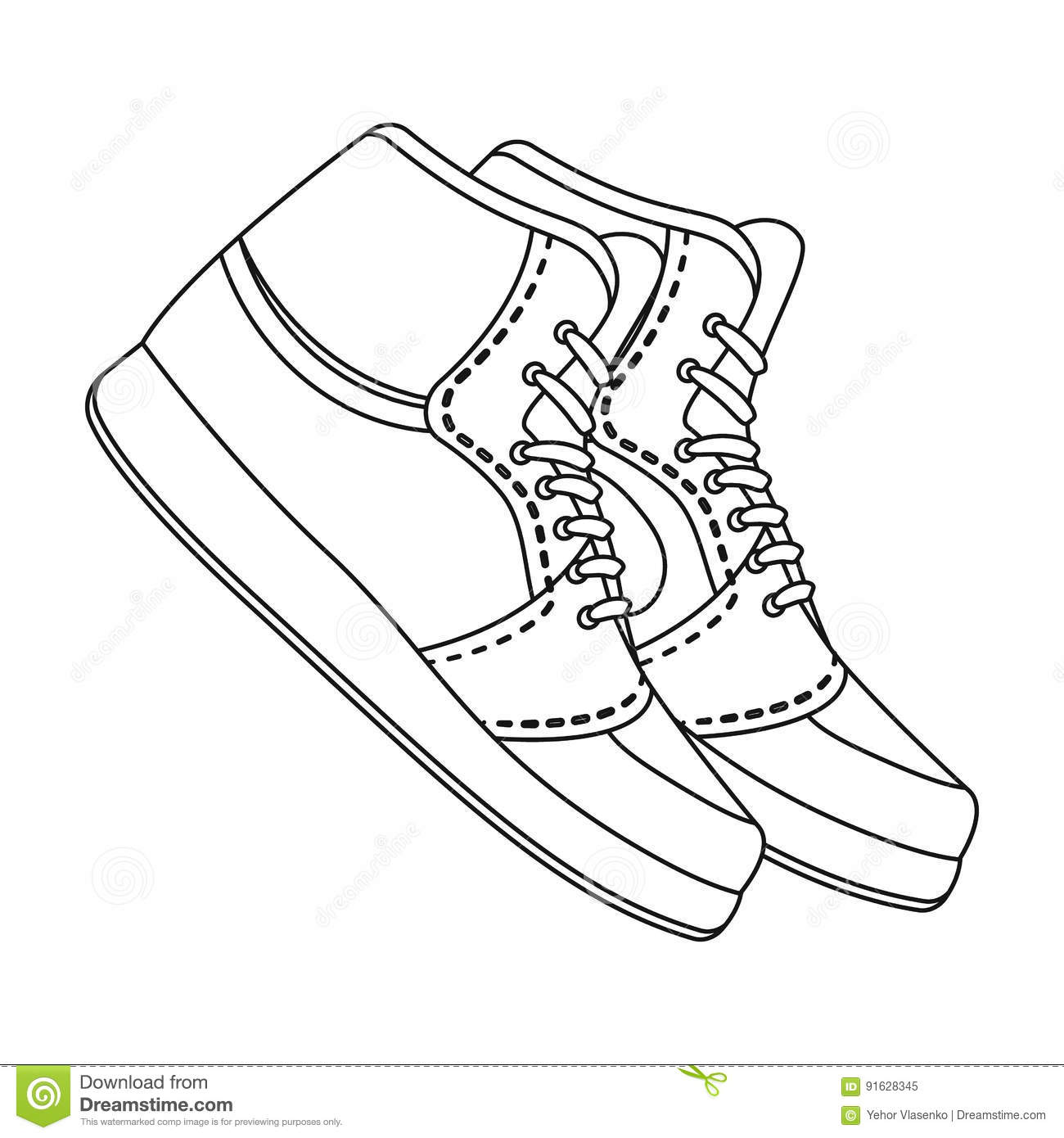 Basketball shoes.Basketball single icon in outline style vector symbol stock illustration web.