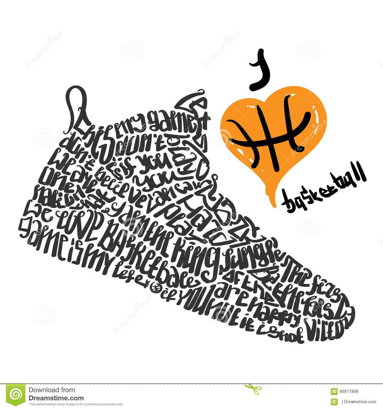 i love basketball cartoon vector cartoondealer com 62569501 basketball clip art black and white free basketball clip art black and white heart
