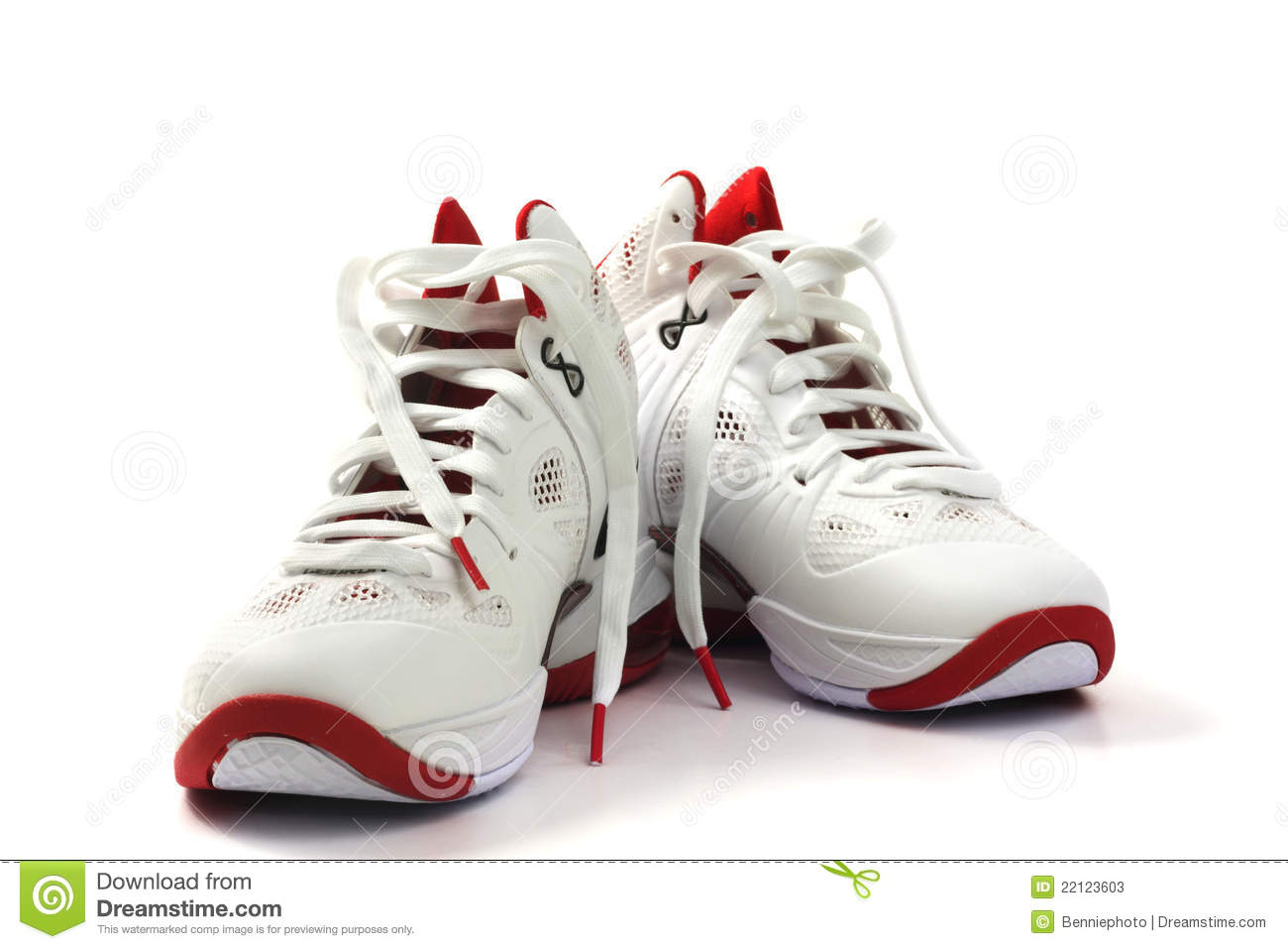 Basketball Shoes On White Background Stock Photos Image