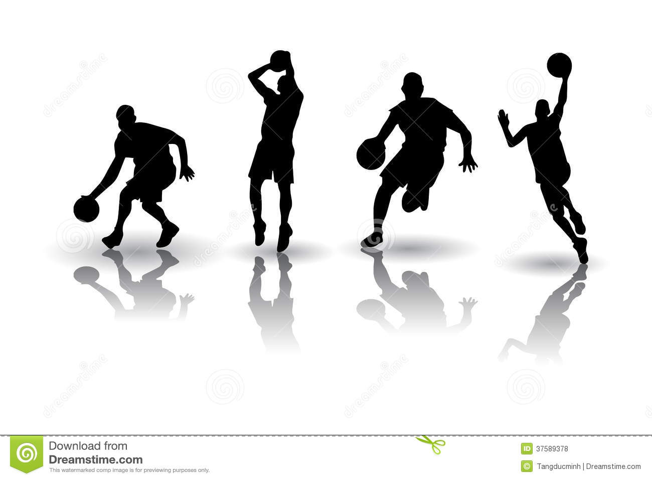 Abstract Triangle Volleyball Player Silhouette Stock: Basketball Silhouette Vectors Royalty Free Stock Photos