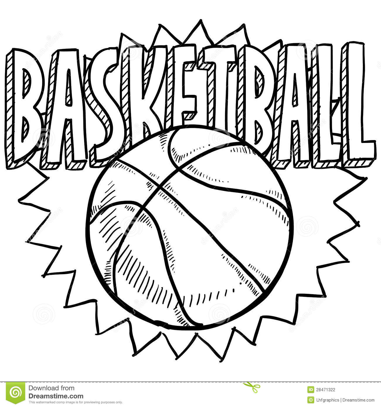 Basketball Sketch Stock Vector. Illustration Of Illustration - 28471322