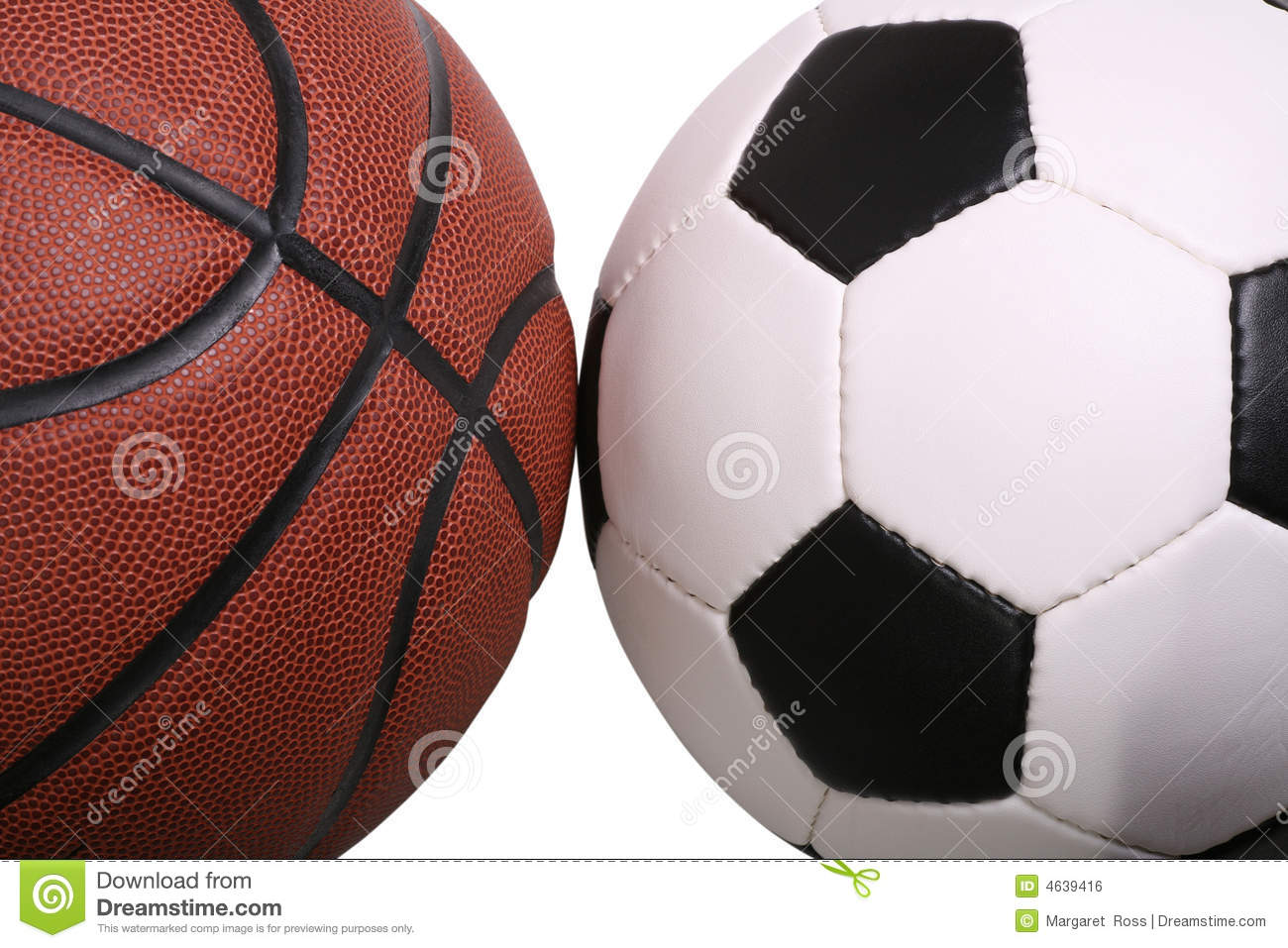 Basketball Soccer Royalty Free Stock Image - Image: 4639416