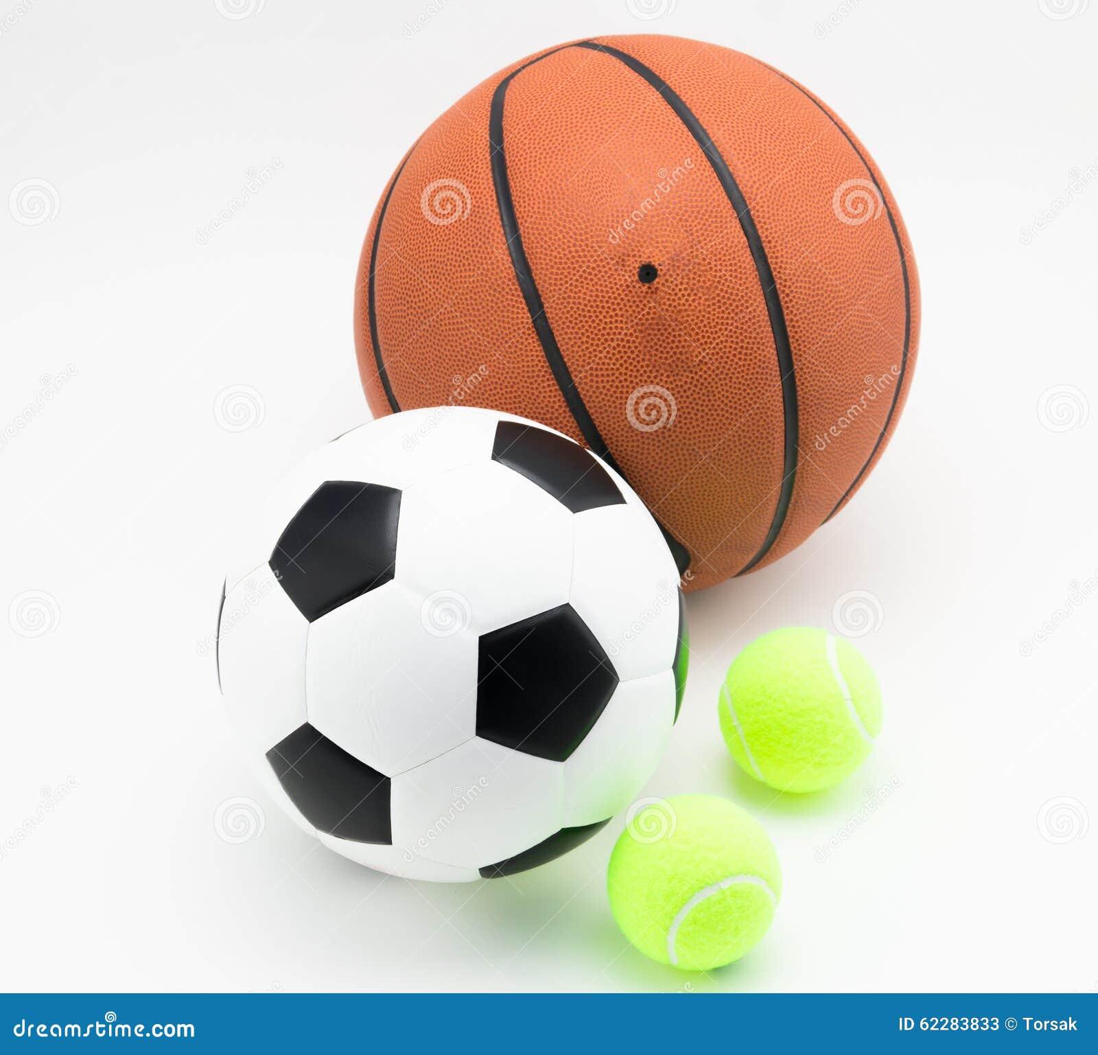 Basketball And Soccer Ball Tennis Ball Stock Photo - Image ...