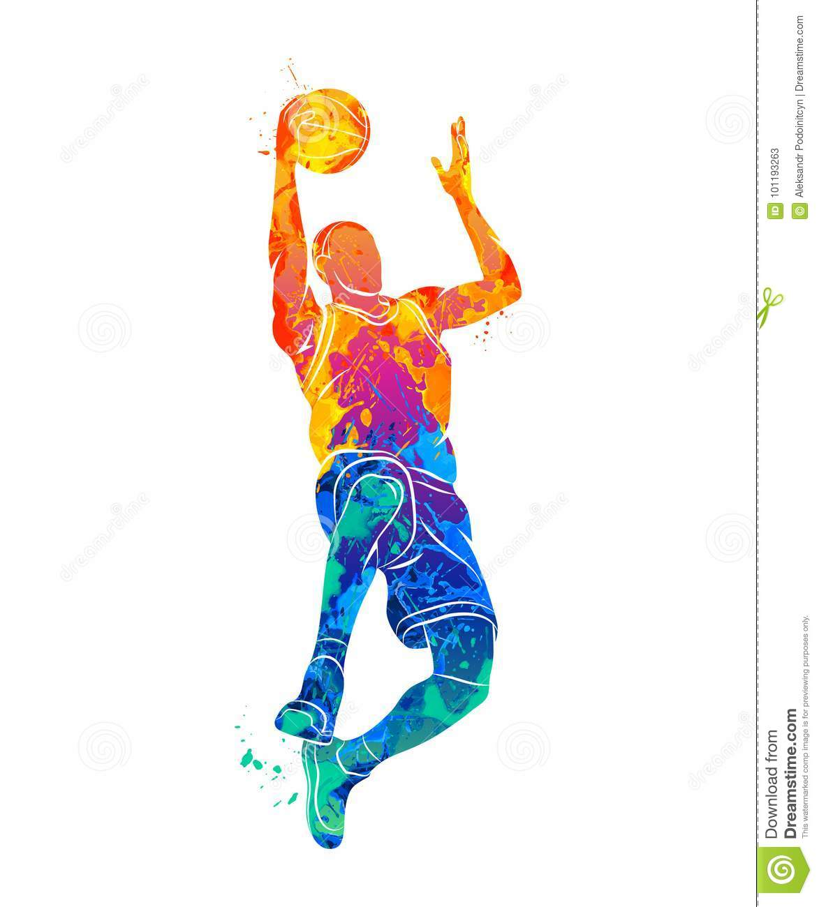 Basketball-Spieler, Ball