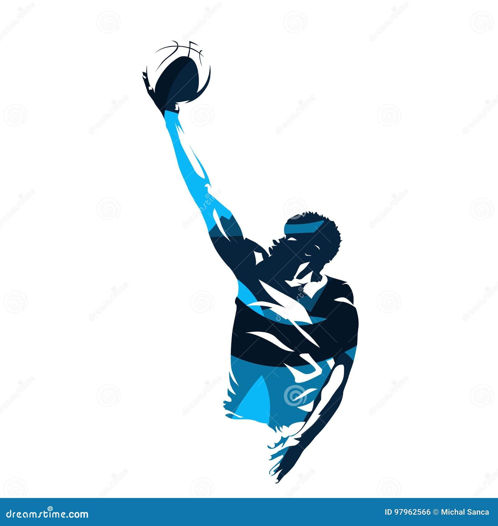 Basketball-Spieler, der gelegt herauf Schuss macht
