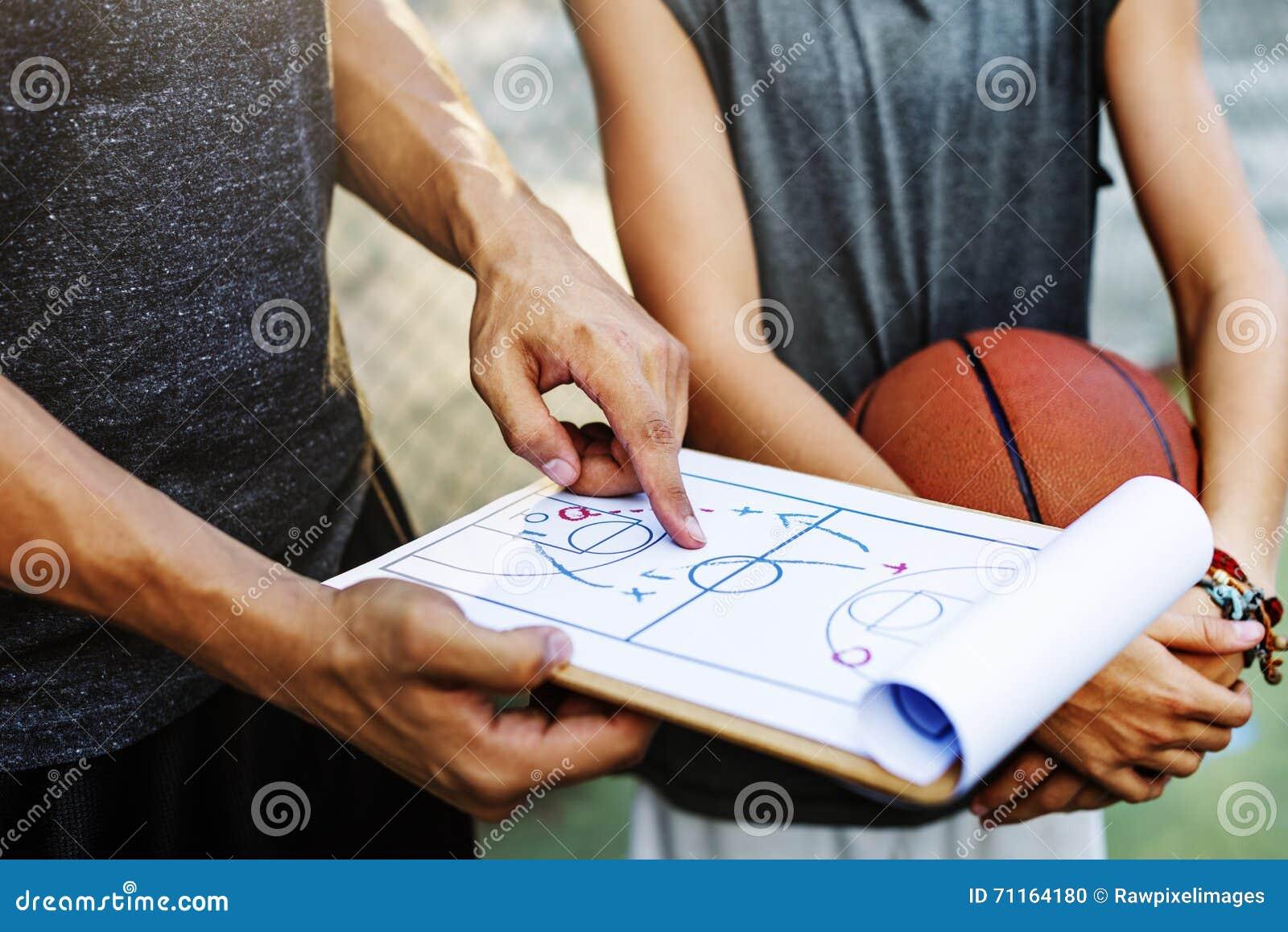Basketball-Spieler-Sport-Strategien-Taktik-Konzept