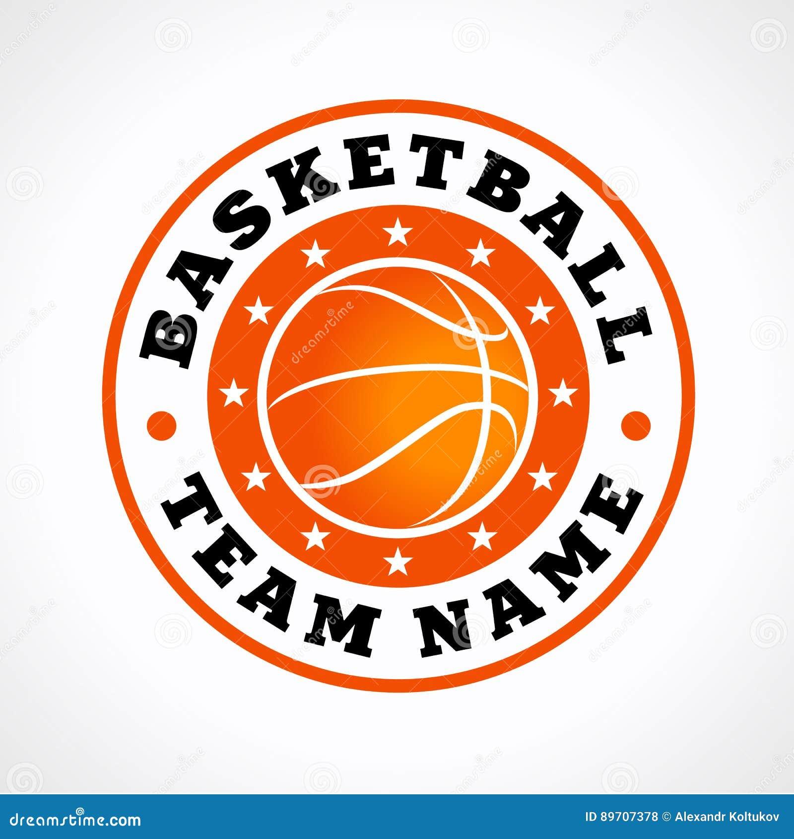 basketball sports vector logo vector illustration