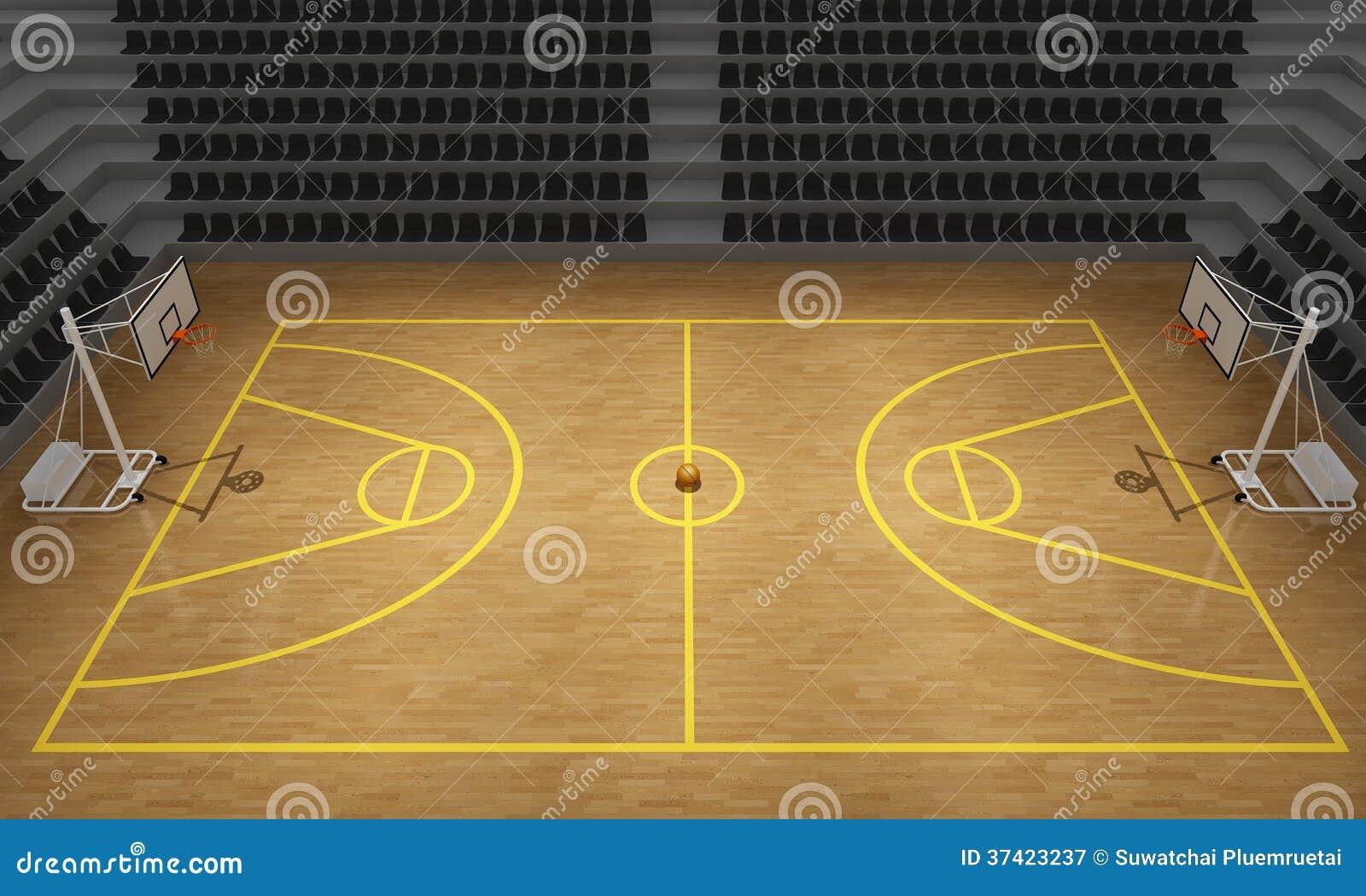 Basketball Stadium 3d Royalty Free Stock Photography