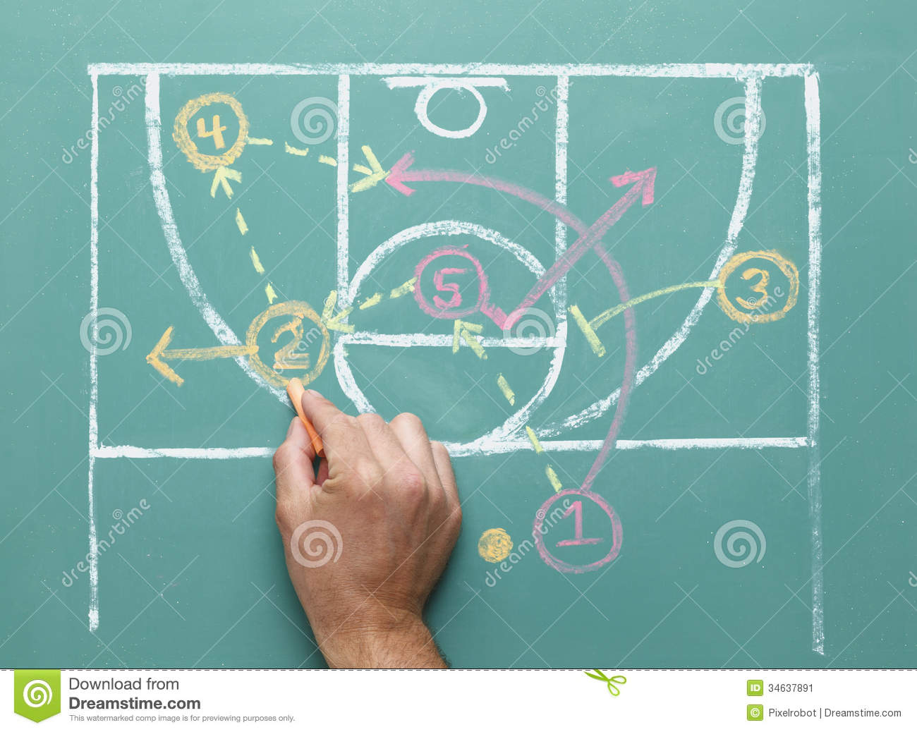 Basketball Strategy Stock Image - Image: 34637891