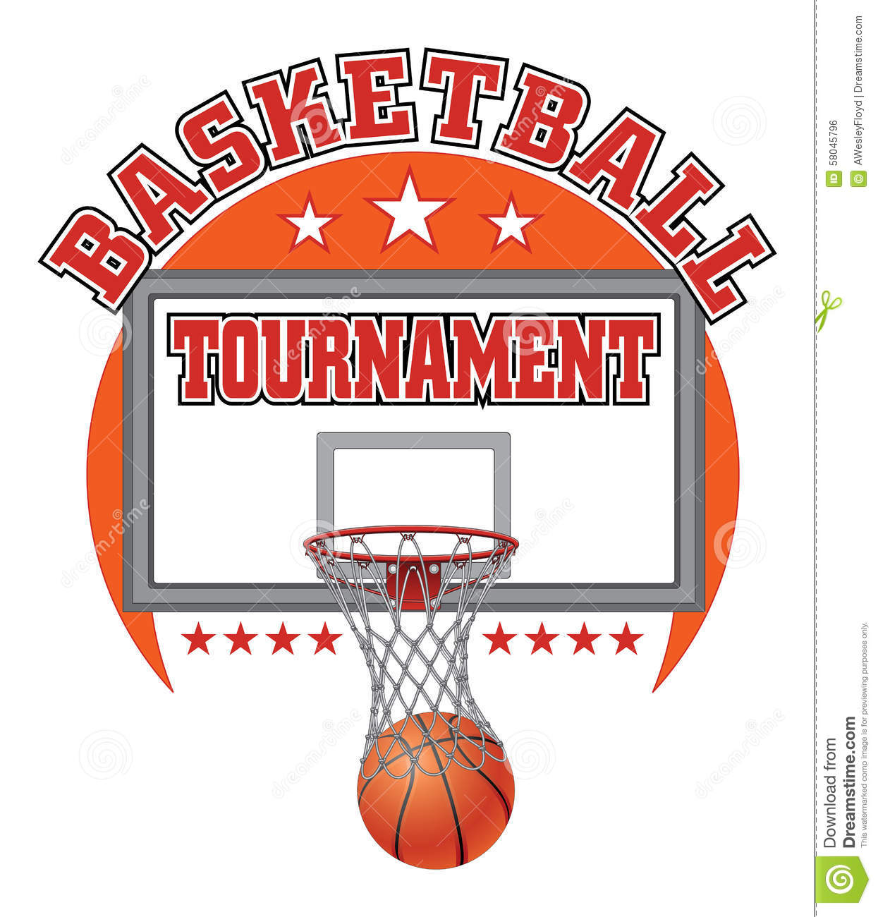 Basketball tournament design stock vector illustration for Basketball tournament program template