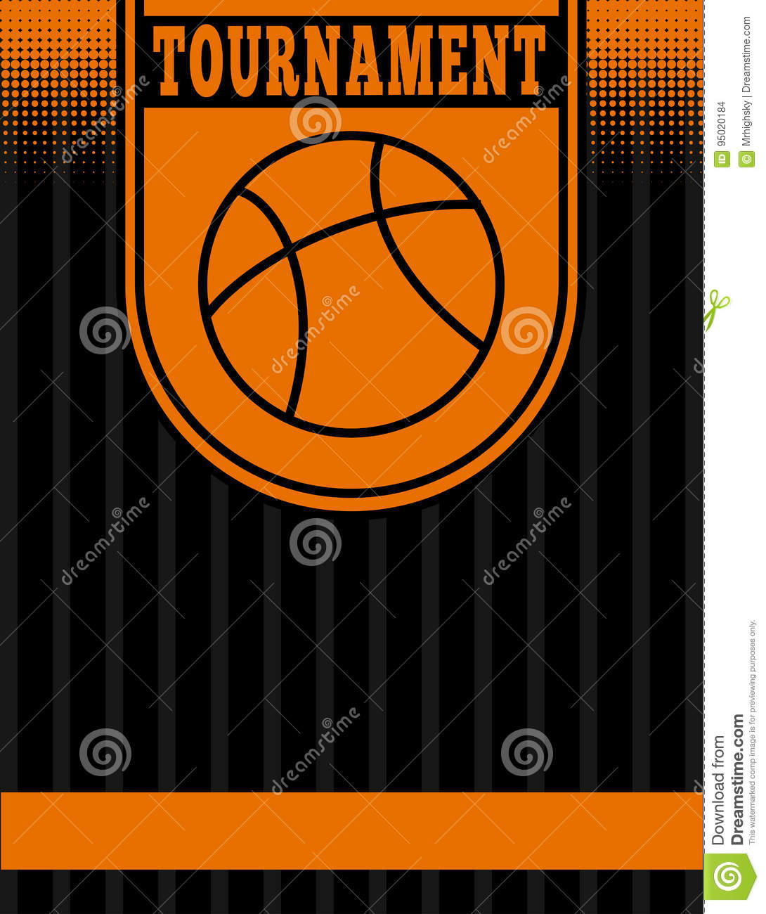 basketball tournament flyer template stock vector illustration of