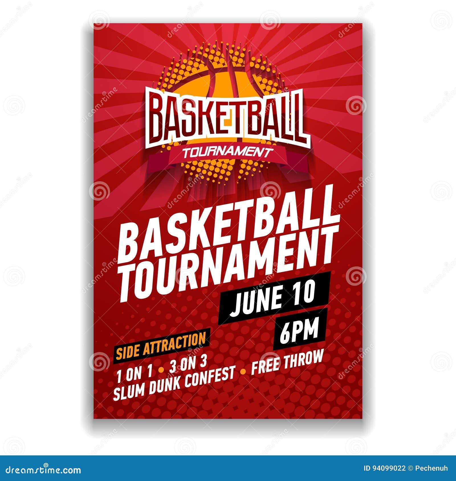 basketball tournament modern sports posters design stock vector