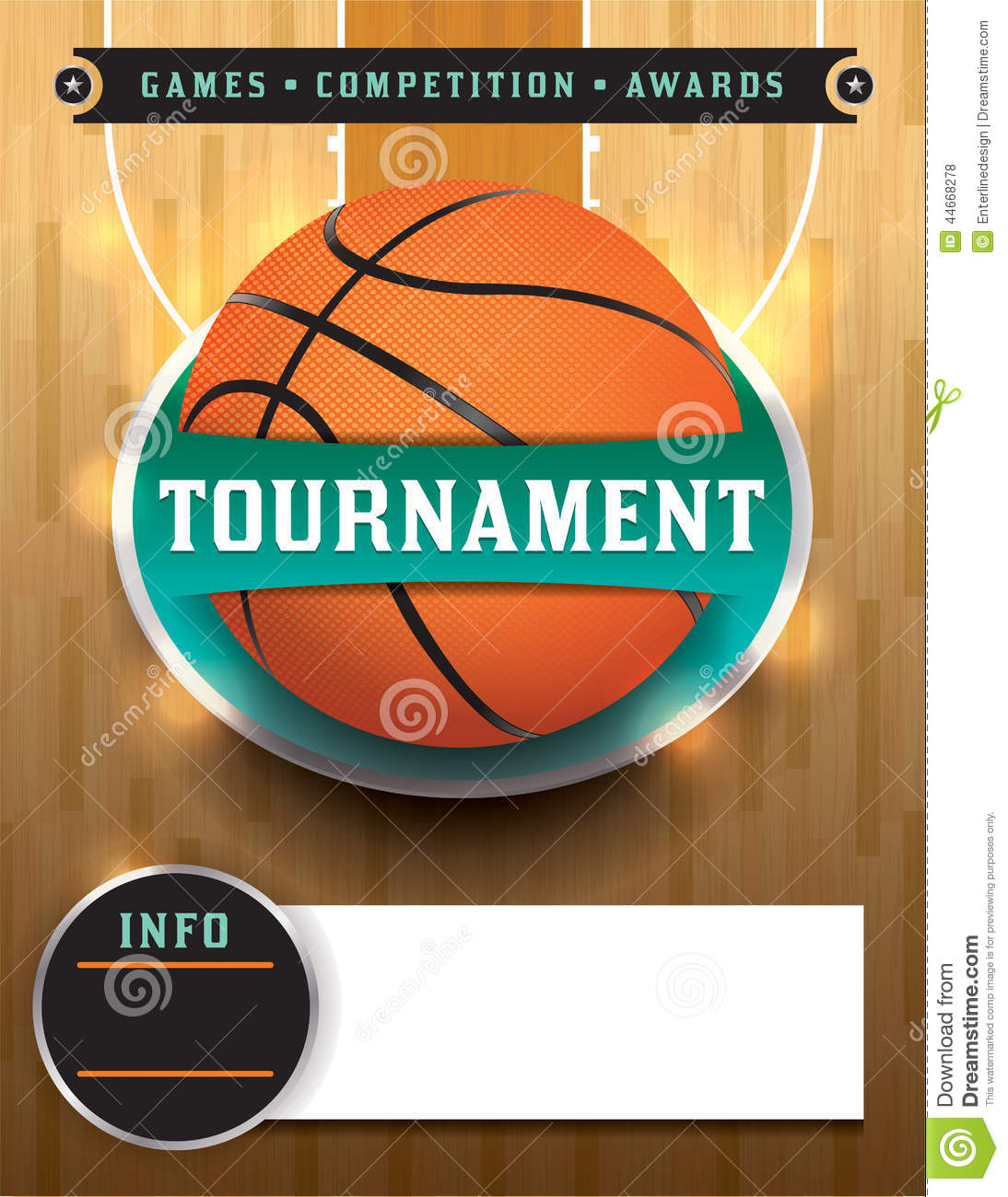 basketball tournament template stock vector image 44668278 With basketball tournament program template