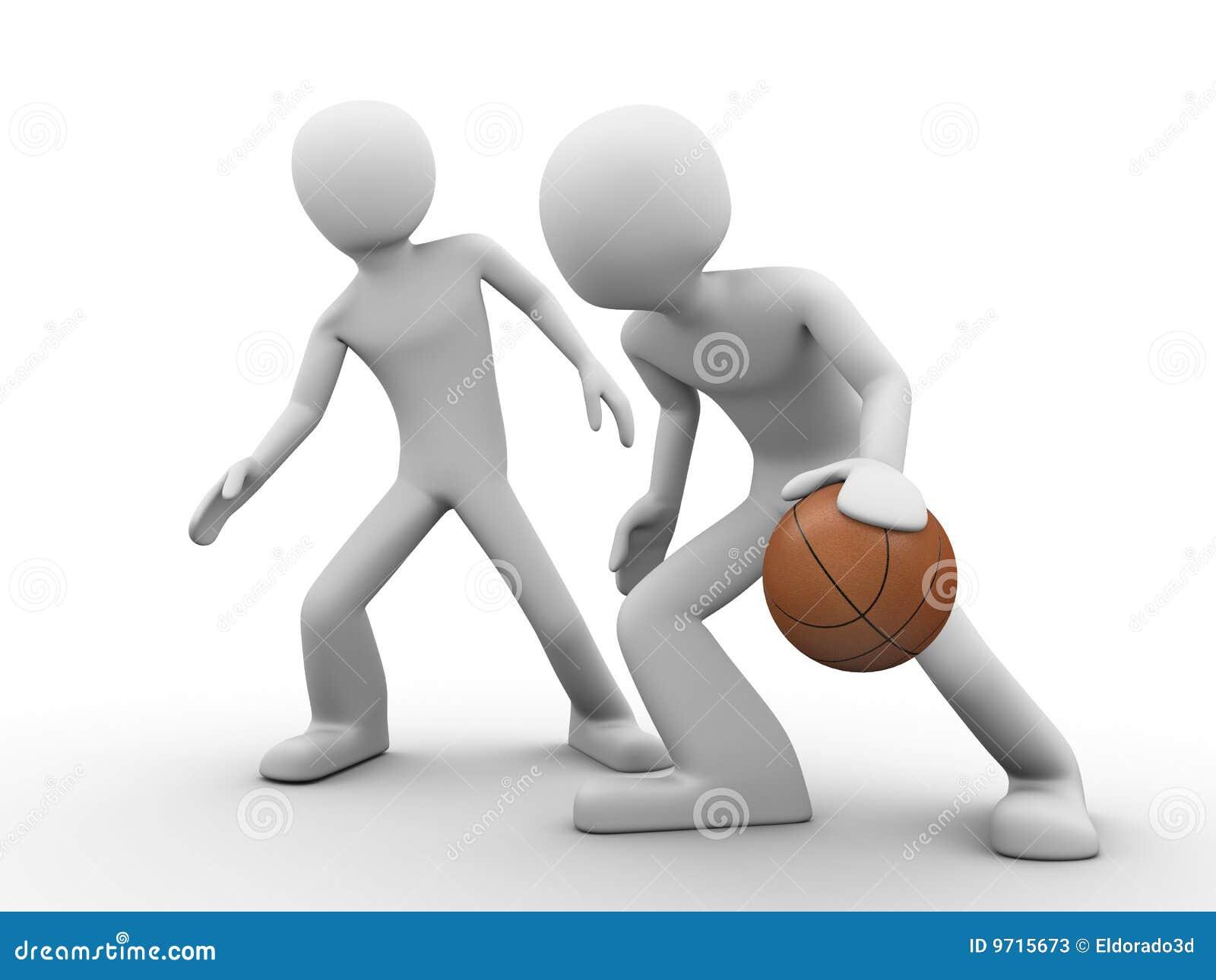 Basketball treffen über (deffence gegen Handlung)