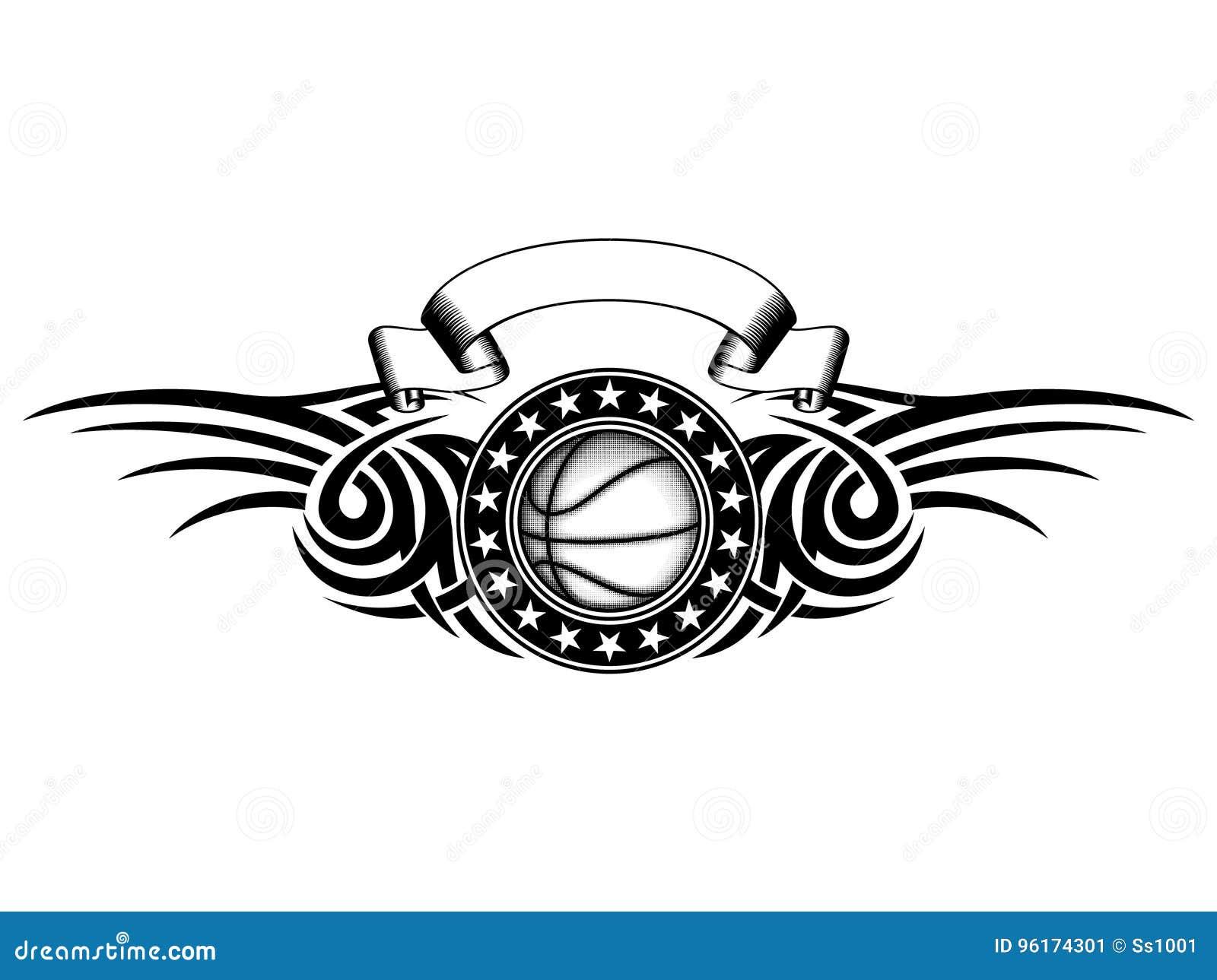 Basketball Tribal Stock Vector Illustration Of Element 96174301