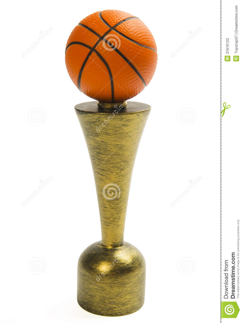 Basketball Trophy Isolated On White Background Stock Photography ...