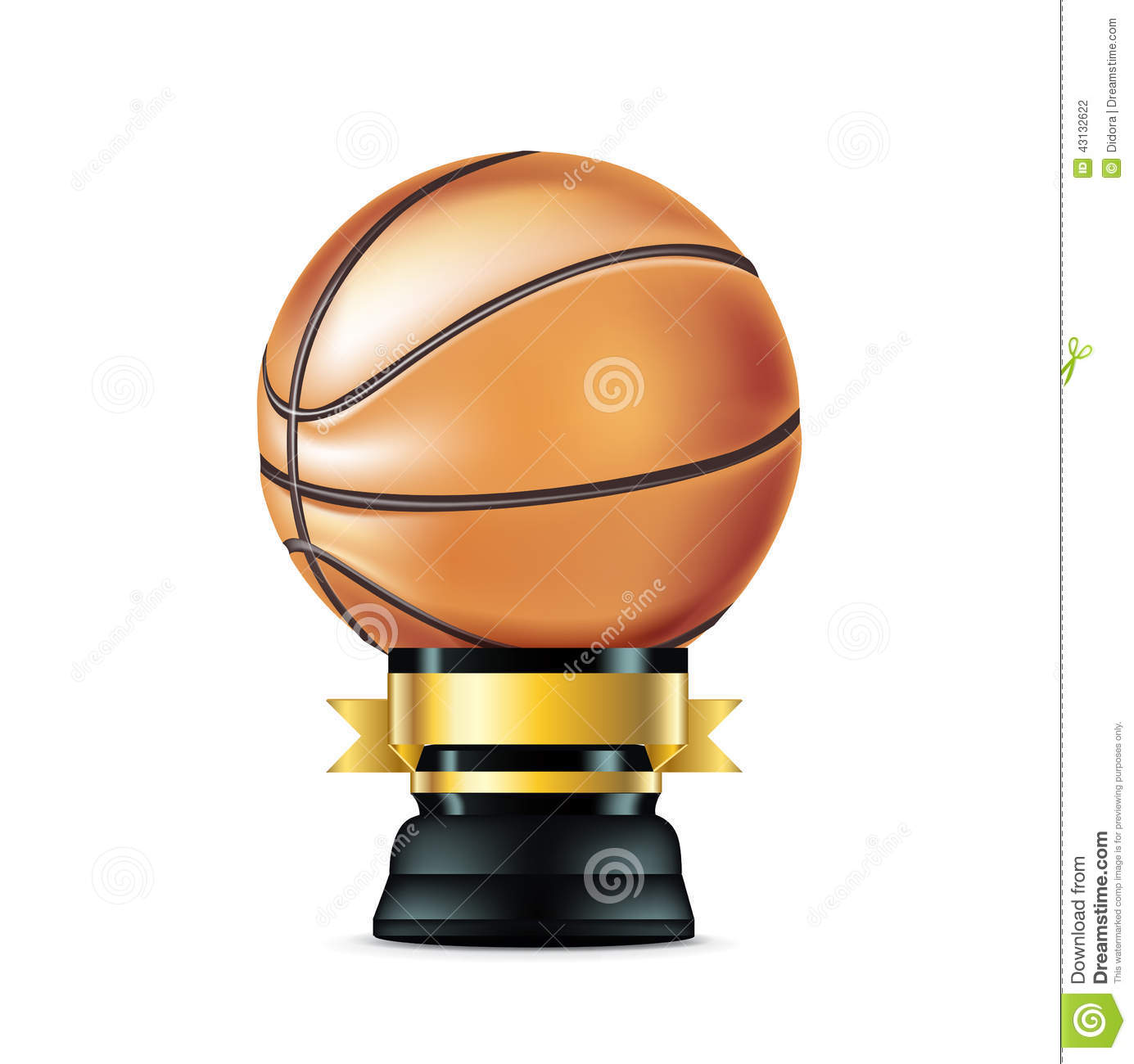 Download Basketball Trophy On White Stock Vector