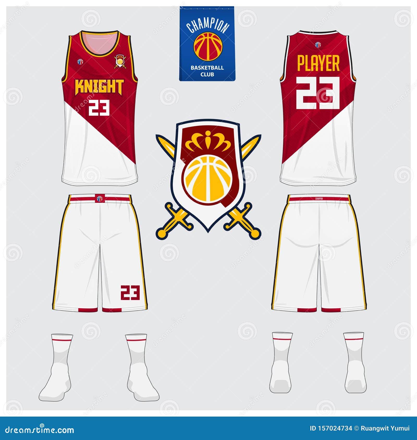 Basketball Uniform Mockup Template Design For Basketball Club Tank Top T Shirt Mockup For Basketball Jersey Stock Vector Illustration Of Side Blank 157024734