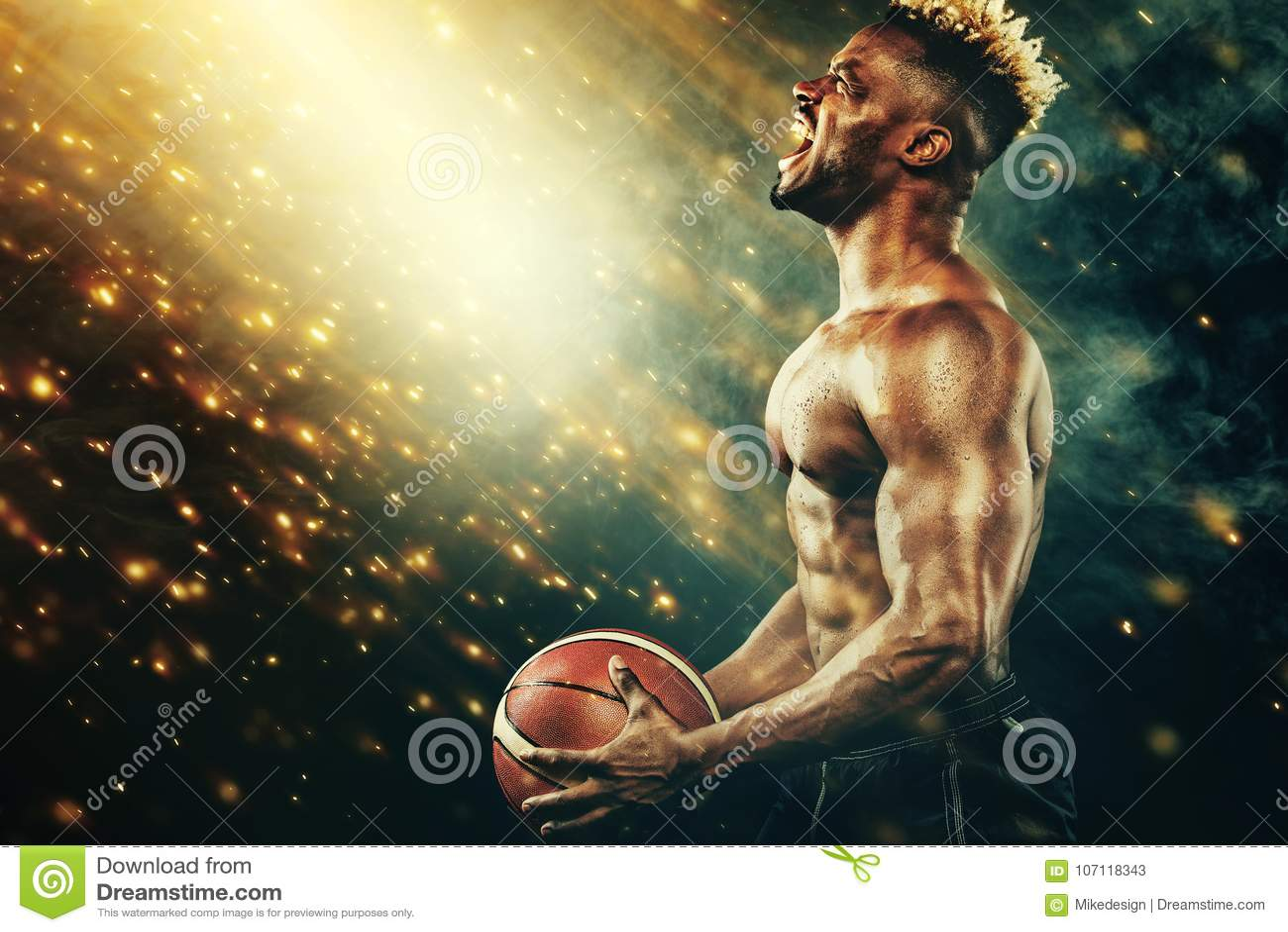 basketball wallpaper portrait of afro american sportsman