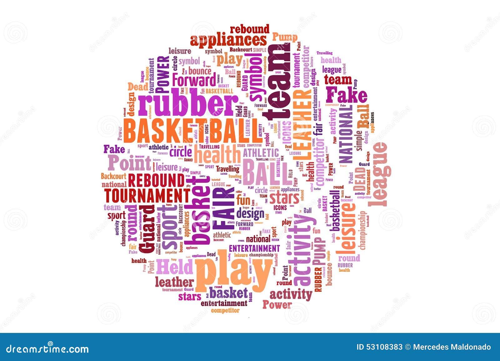 Basketball Word Cloud Concept Stock Illustration - Image ...  Basketball Word...