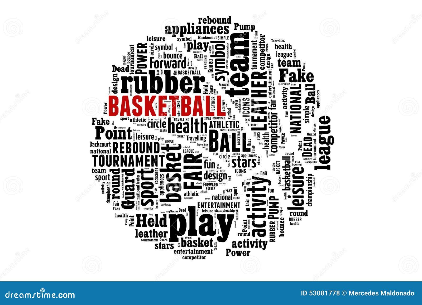 basketball word cloud concept stock illustration illustration of
