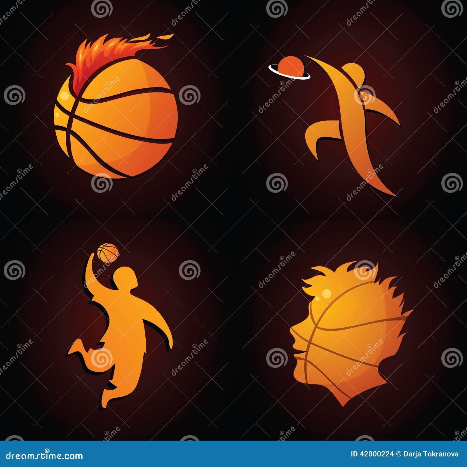 Basketbalpictogrammen