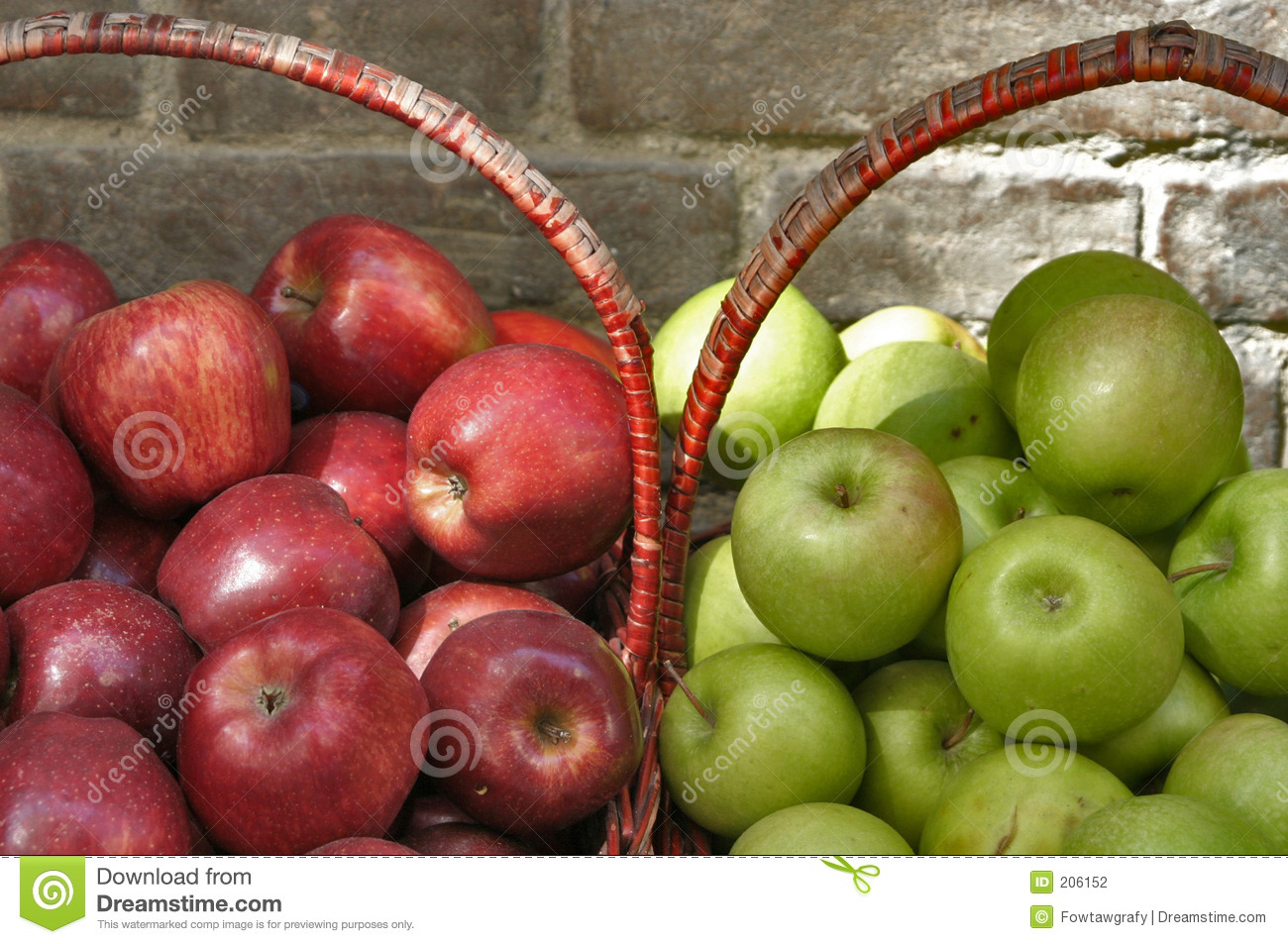 green and red apples in basket. royalty-free stock photo. download baskets of red and green apples in basket