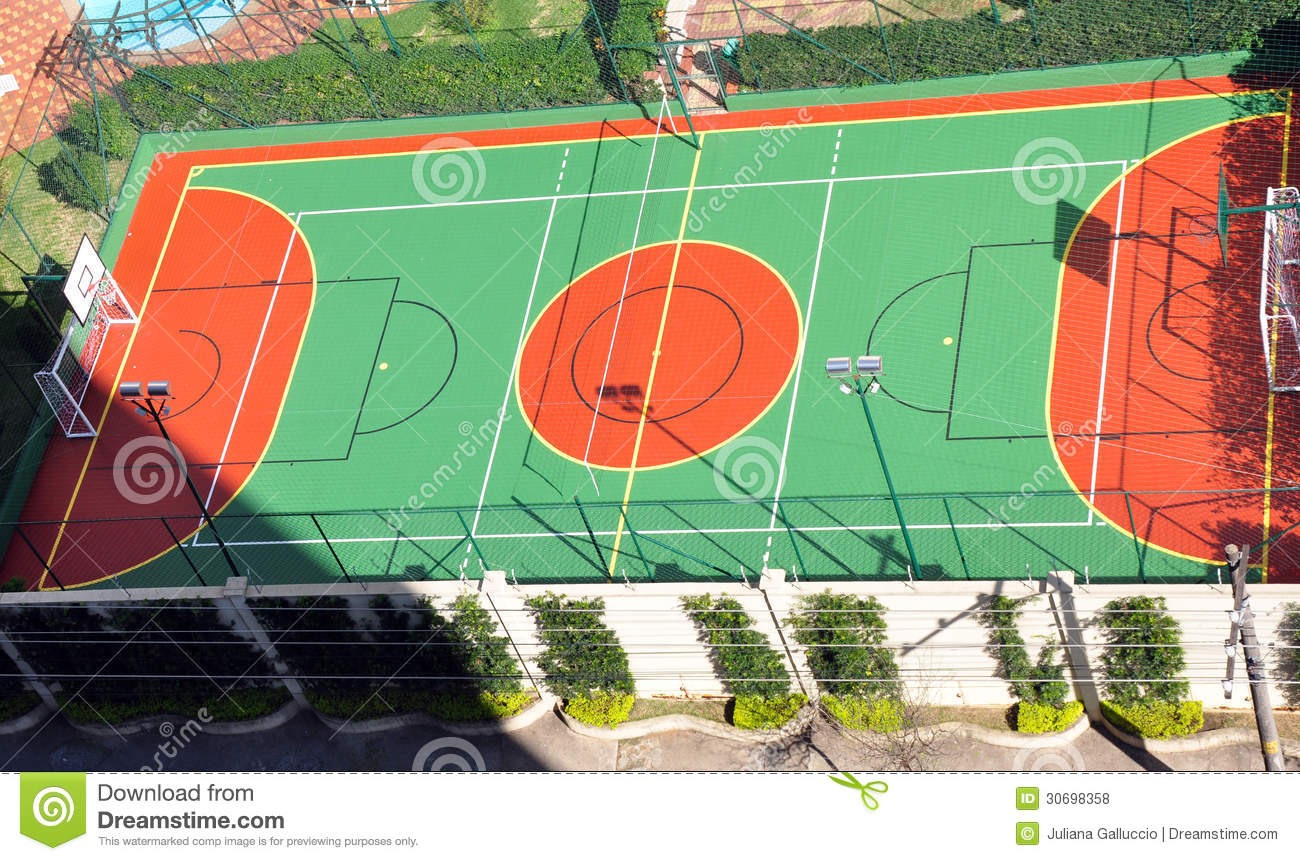 Basketball Court Royalty Free Stock Photos - Image: 30698358